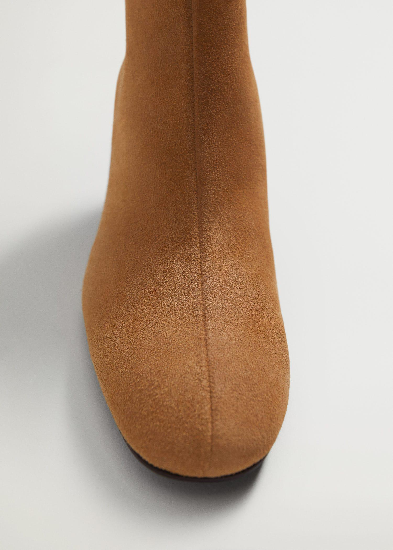 Suede leather ankle boots 4