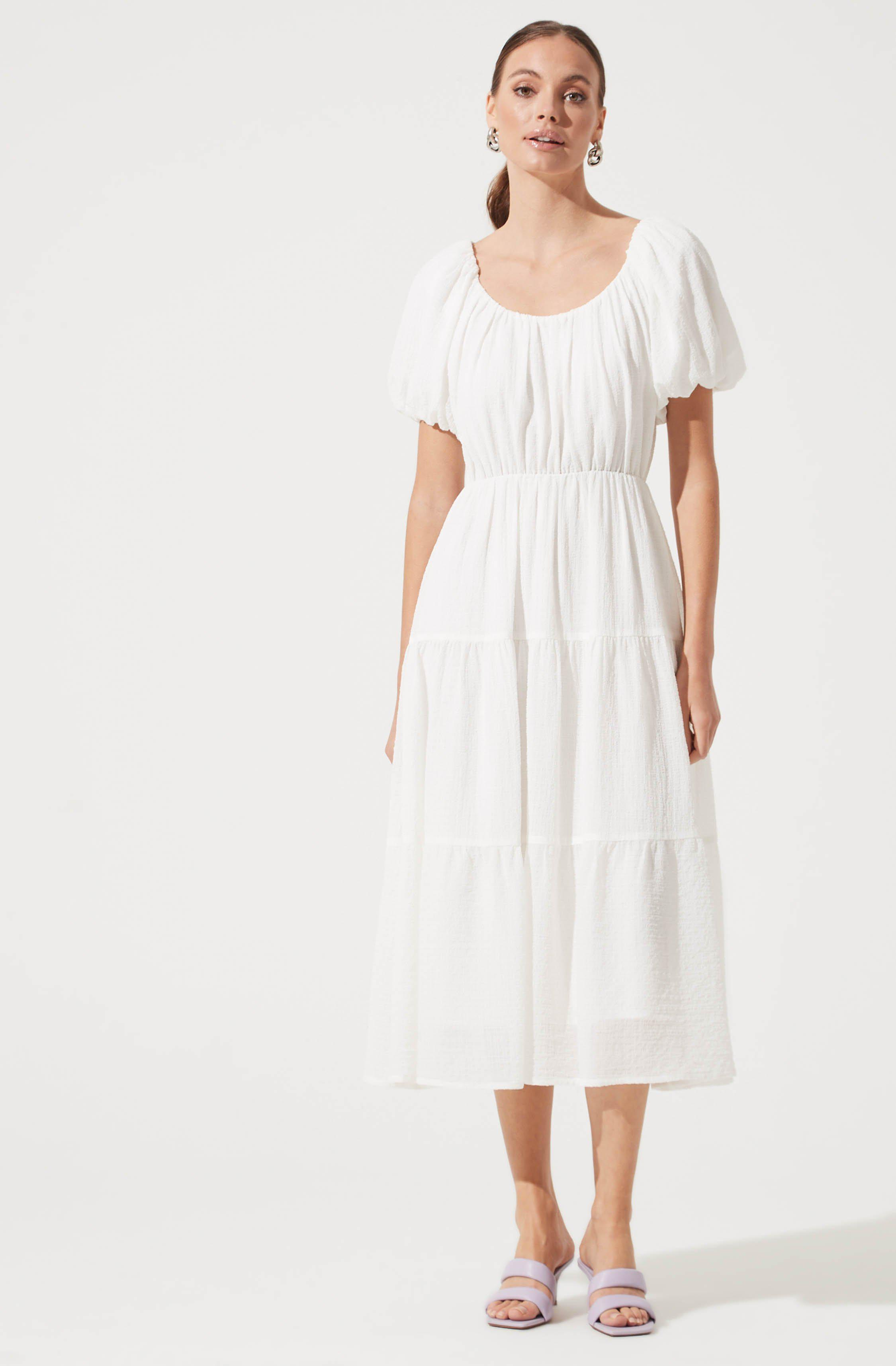 Smocked Tiered Maxi
