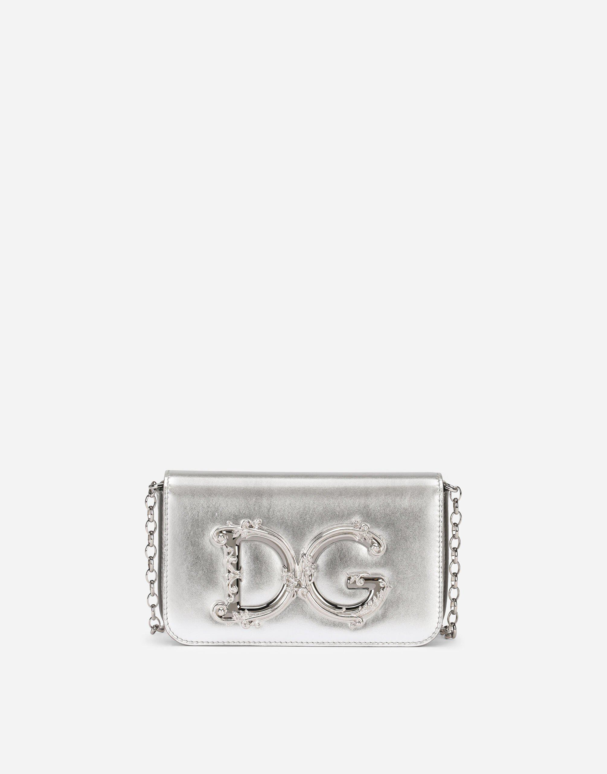 DG Girls clutch in nappa mordore leather