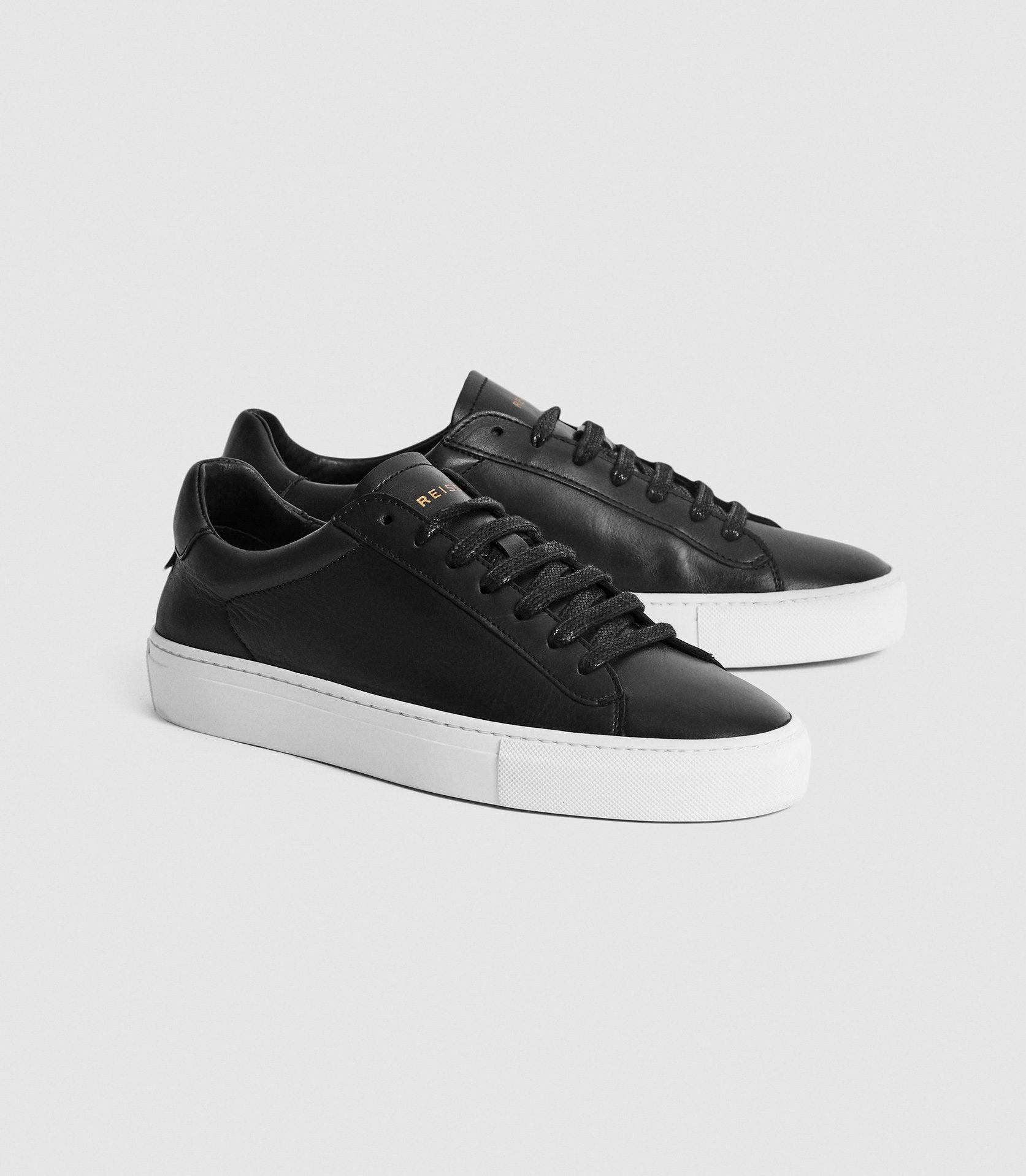 FINLEY - LEATHER CONTRAST SOLE TRAINERS 1