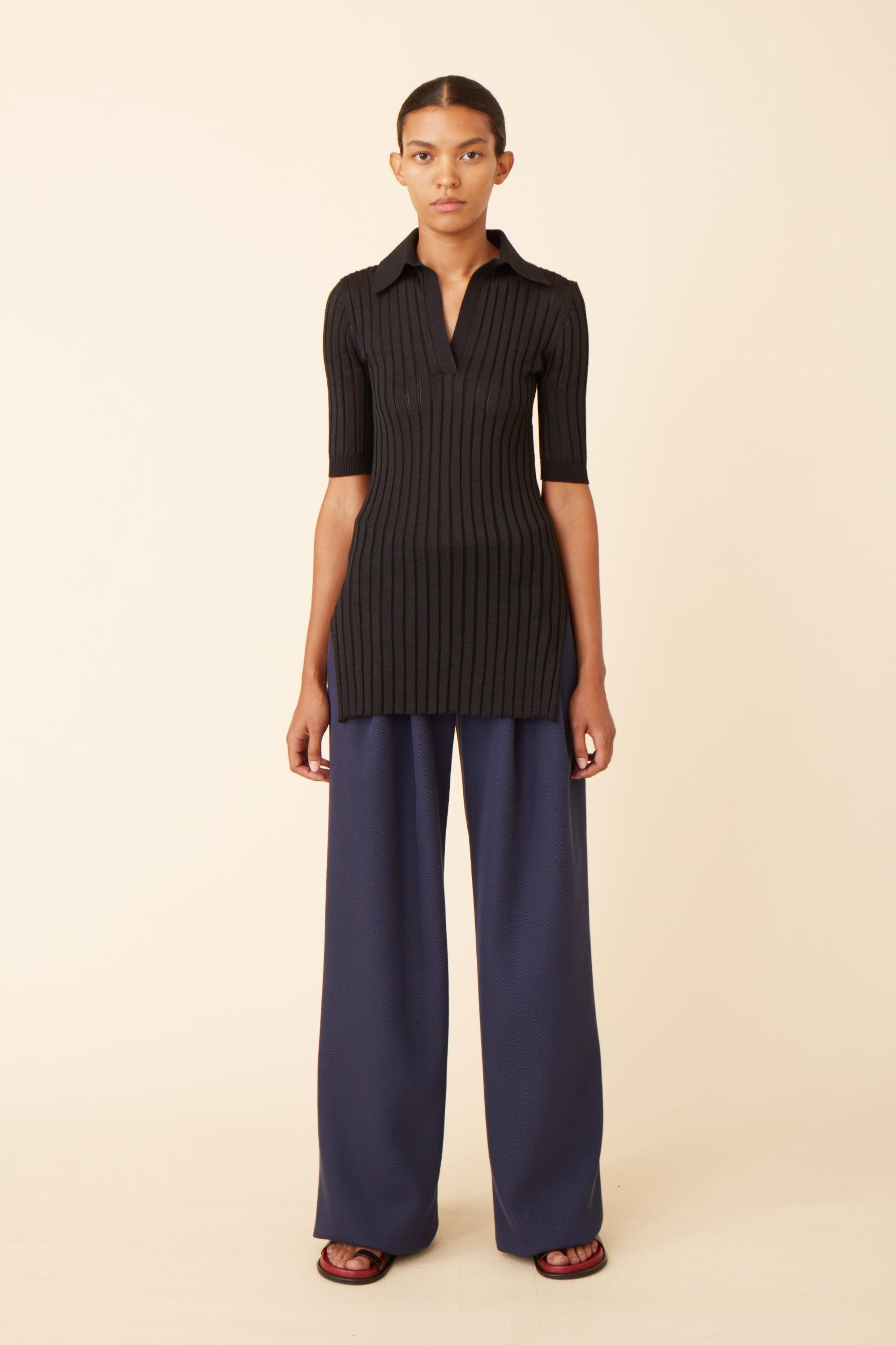 Straight Trousers with Pleats