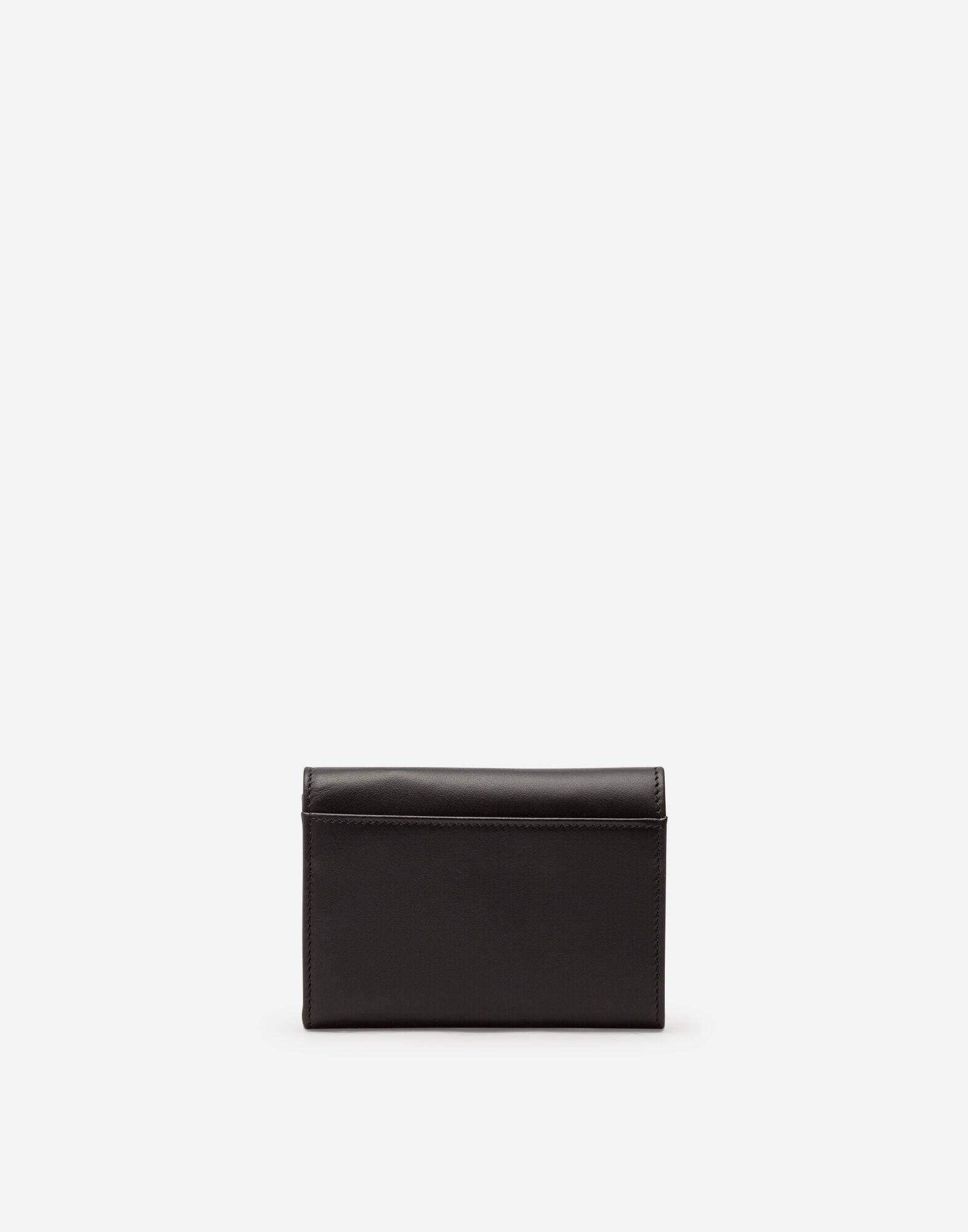 Small calfskin continental wallet with baroque D&G 2