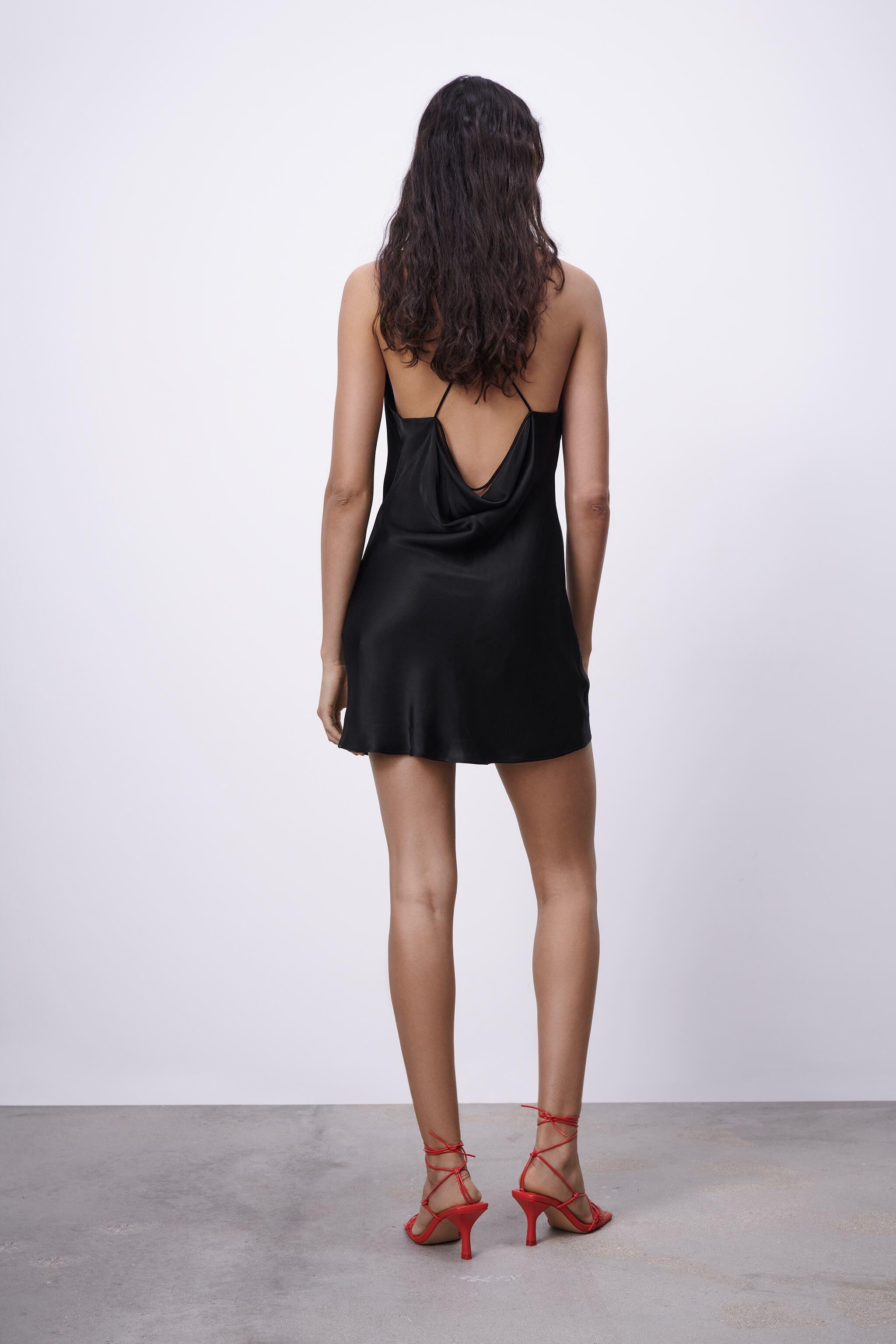 SATIN EFFECT DRESS WITH LACE 3