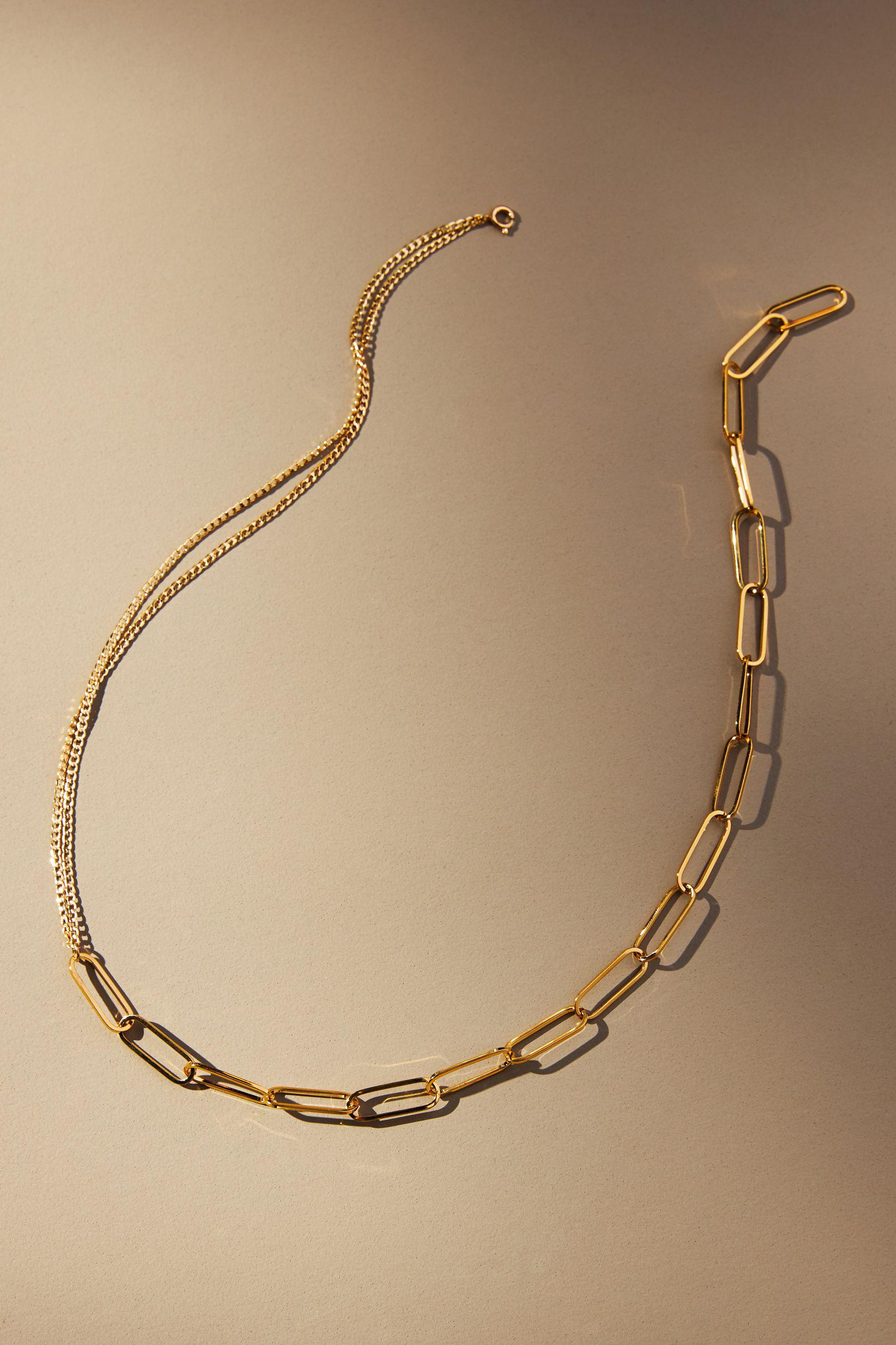 Mixed Chain Link Necklace