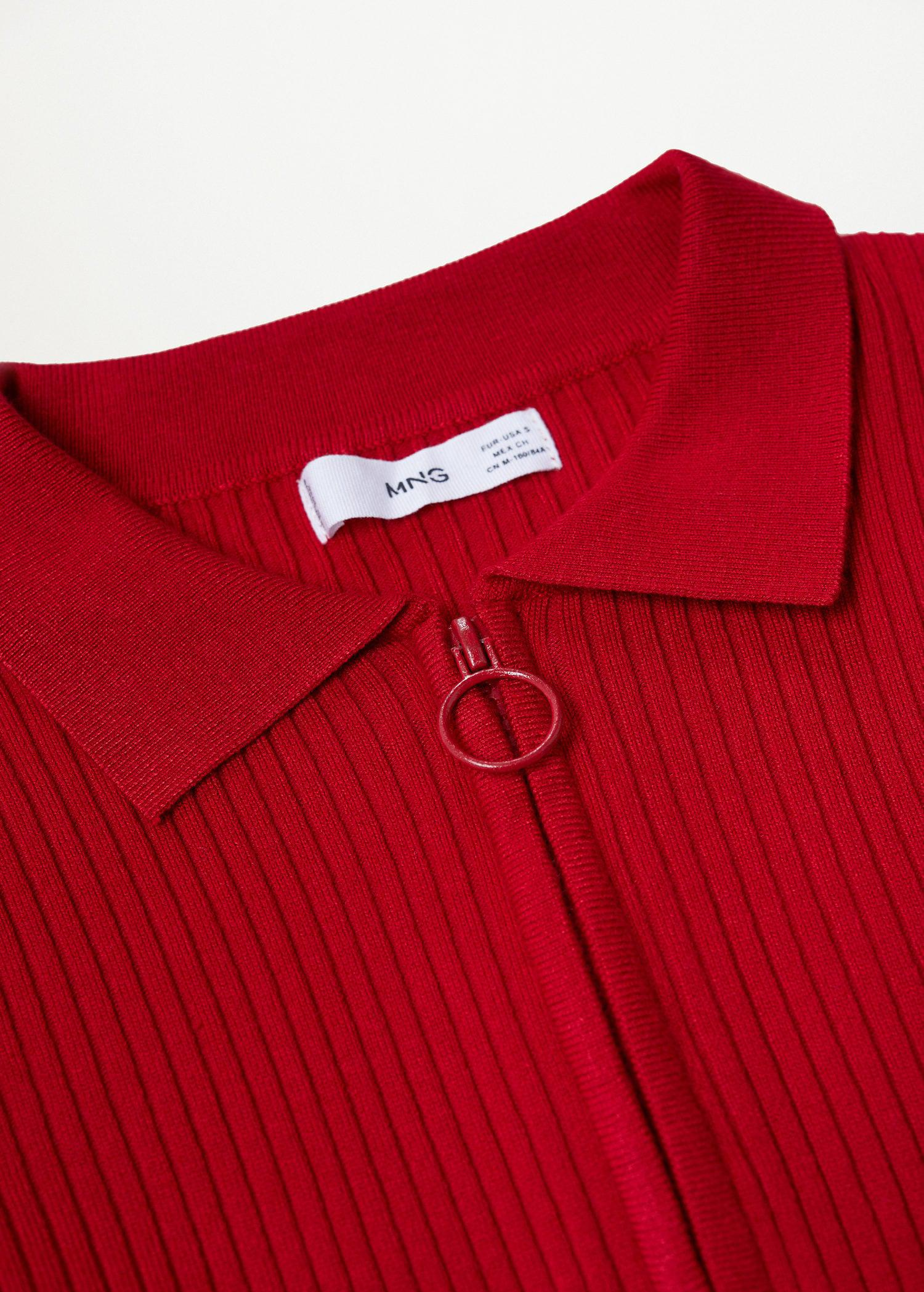 Ribbed sweater with zipper 6