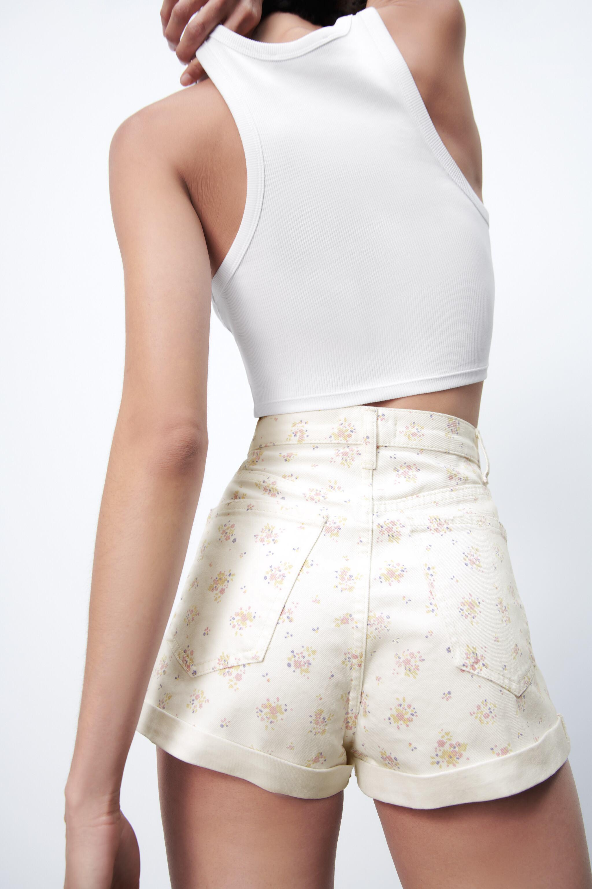 PRINTED MOM FIT ROLLER SHORTS 4