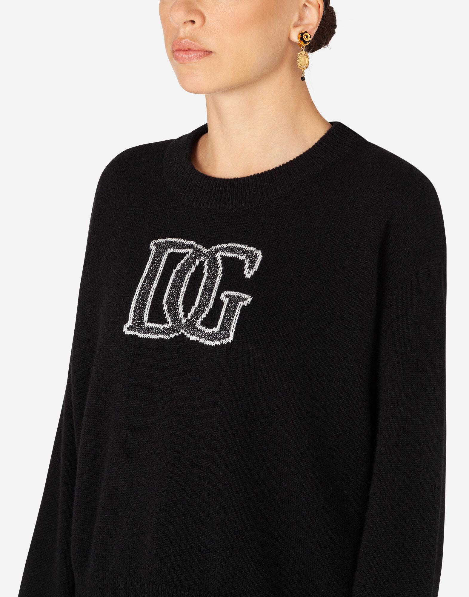 Cashmere sweater with logo intarsia 4