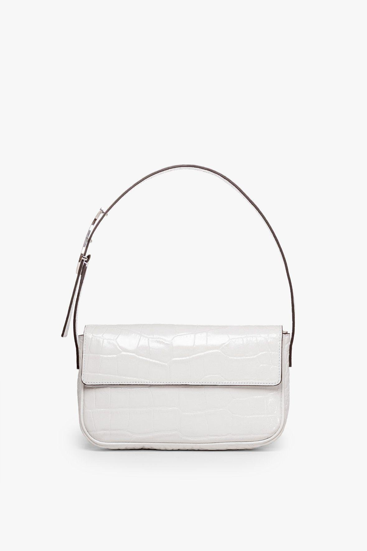 TOMMY LEATHER BAG | FRESH WHITE CROC EMBOSSED