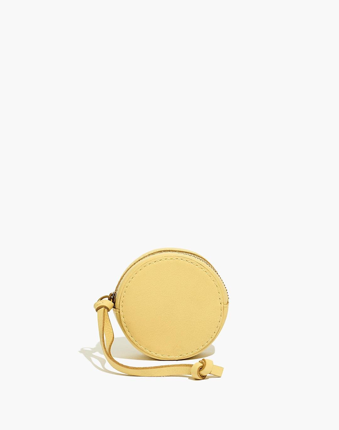 The Earbud Circle Pouch in Leather