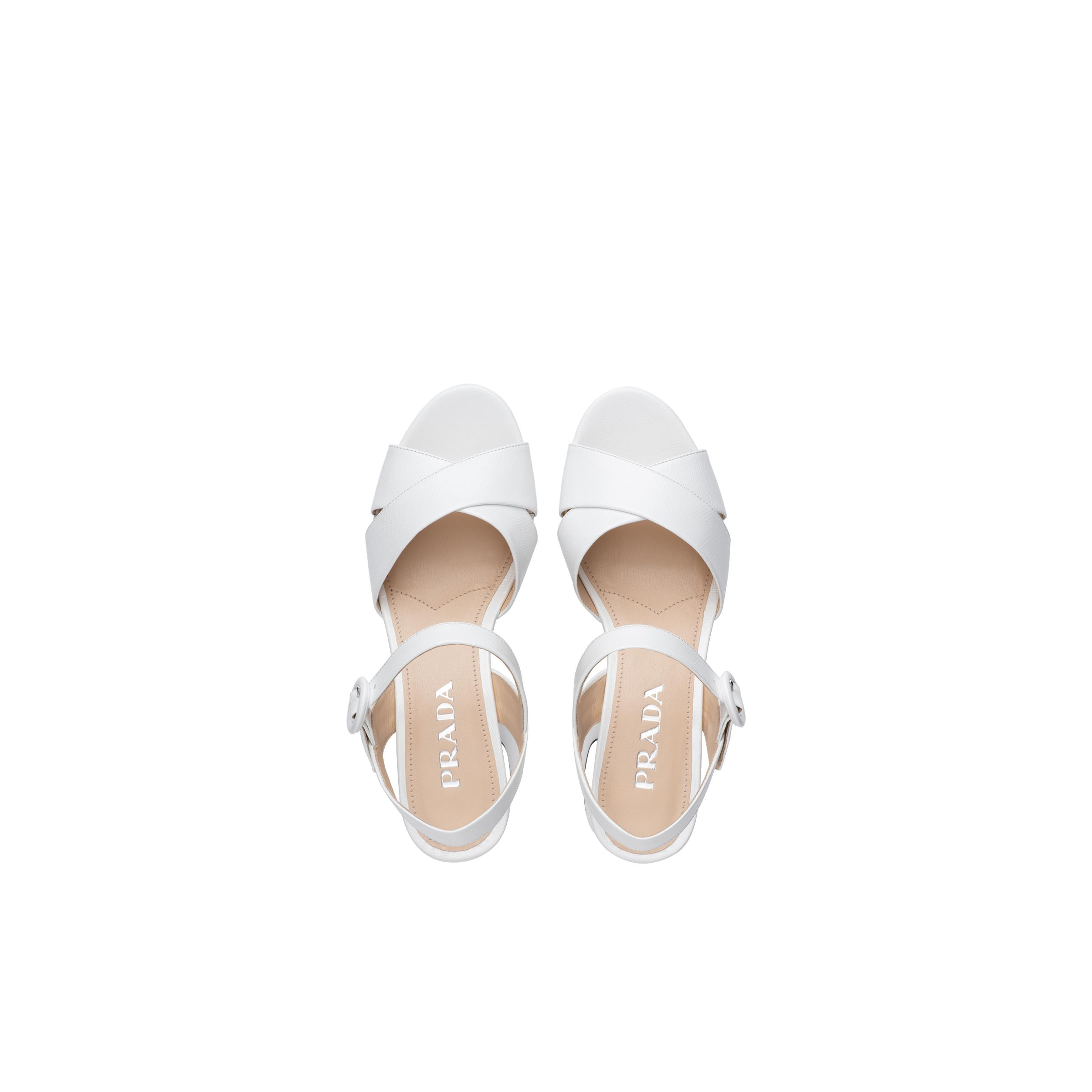 Patent Leather Sandals Women White 1