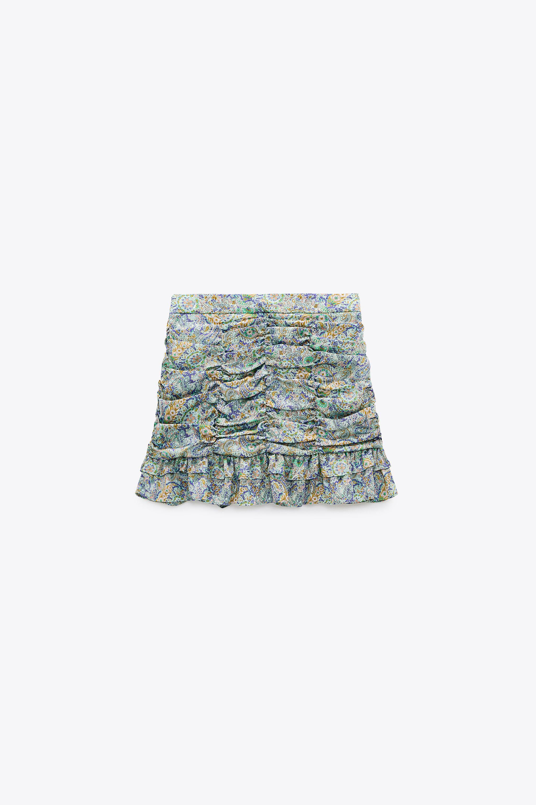 RUCHED PRINTED SKIRT 4