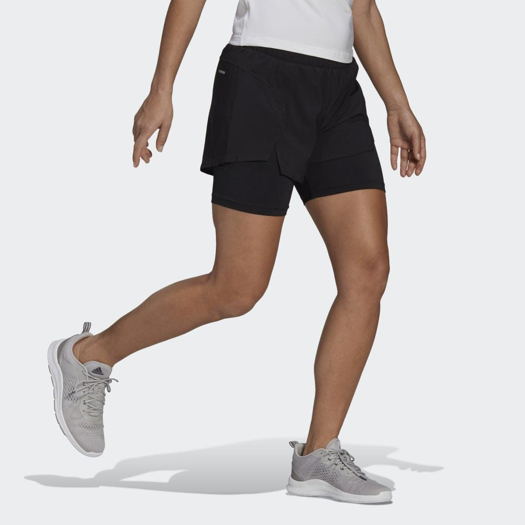 Primeblue Designed To Move 2-in-1 Sport Shorts Black XS - Womens Training Shorts 2