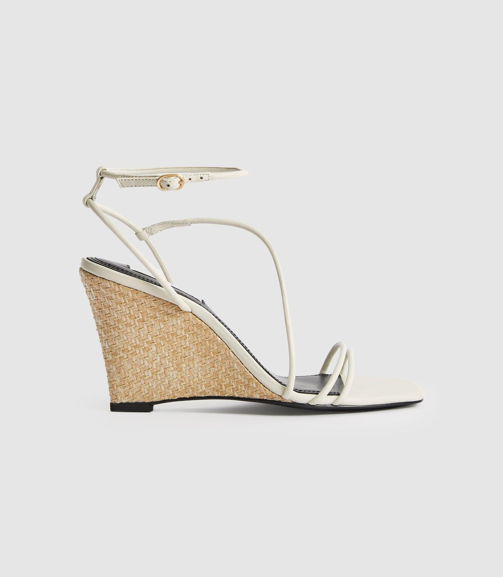 KALI WEDGE - LEATHER STRAPPY WEDGED SANDAL