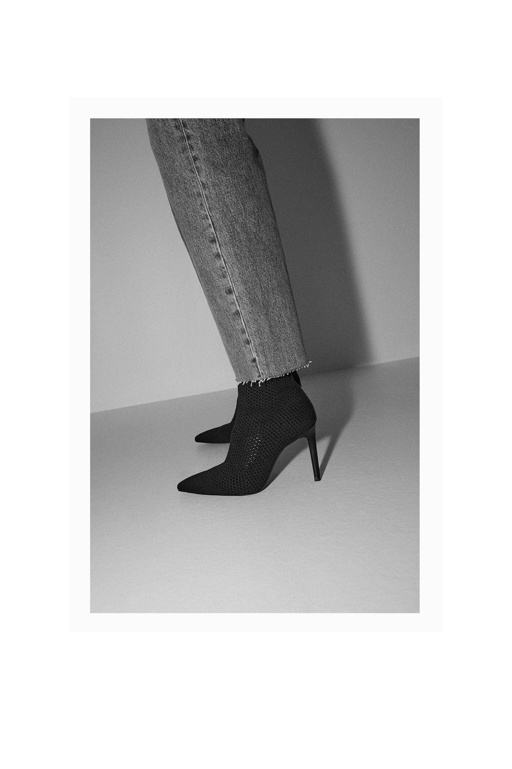 FABRIC HEELED ANKLE BOOTS 5