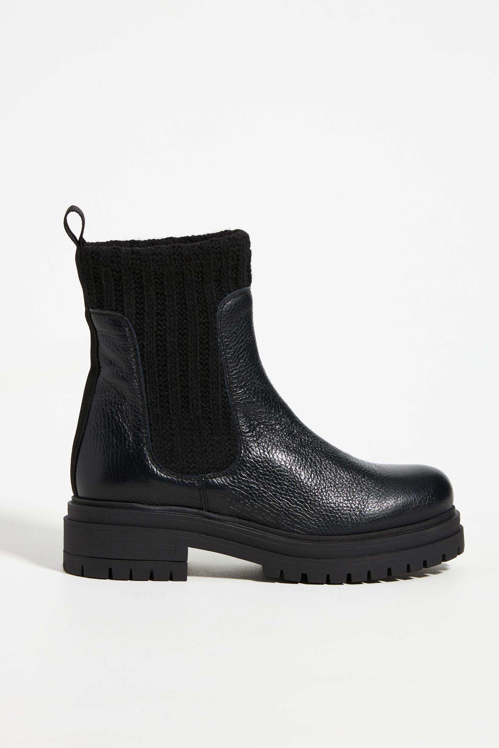 Knit Chelsea Boots