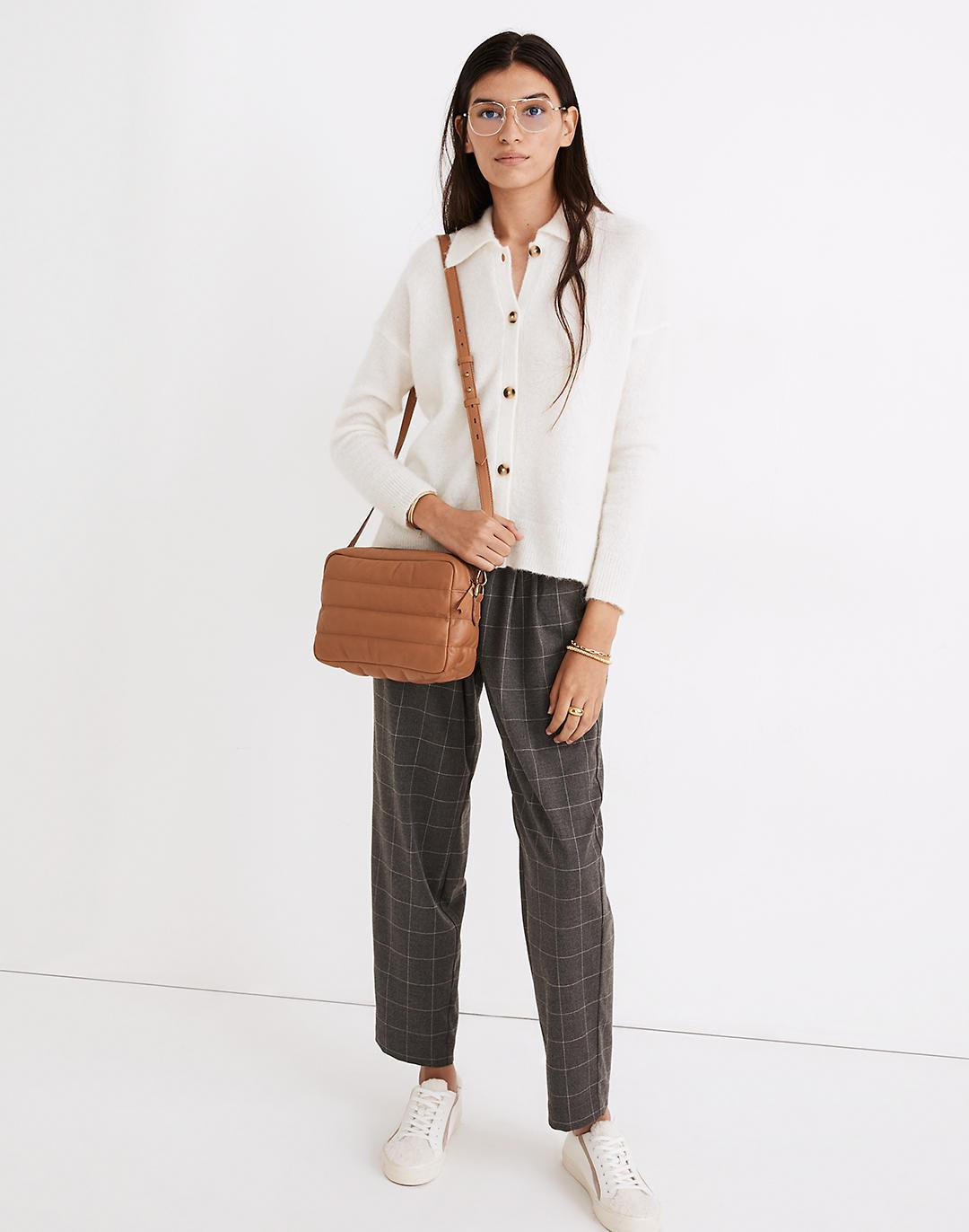 Plaid Flannel Track Trousers