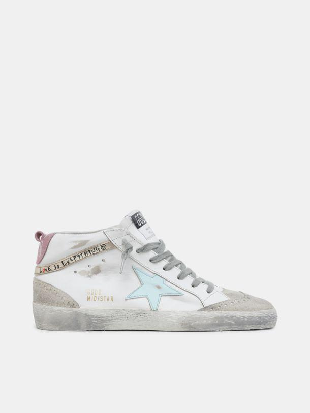 """Mid Star sneakers with """"Love is everything"""" lettering"""