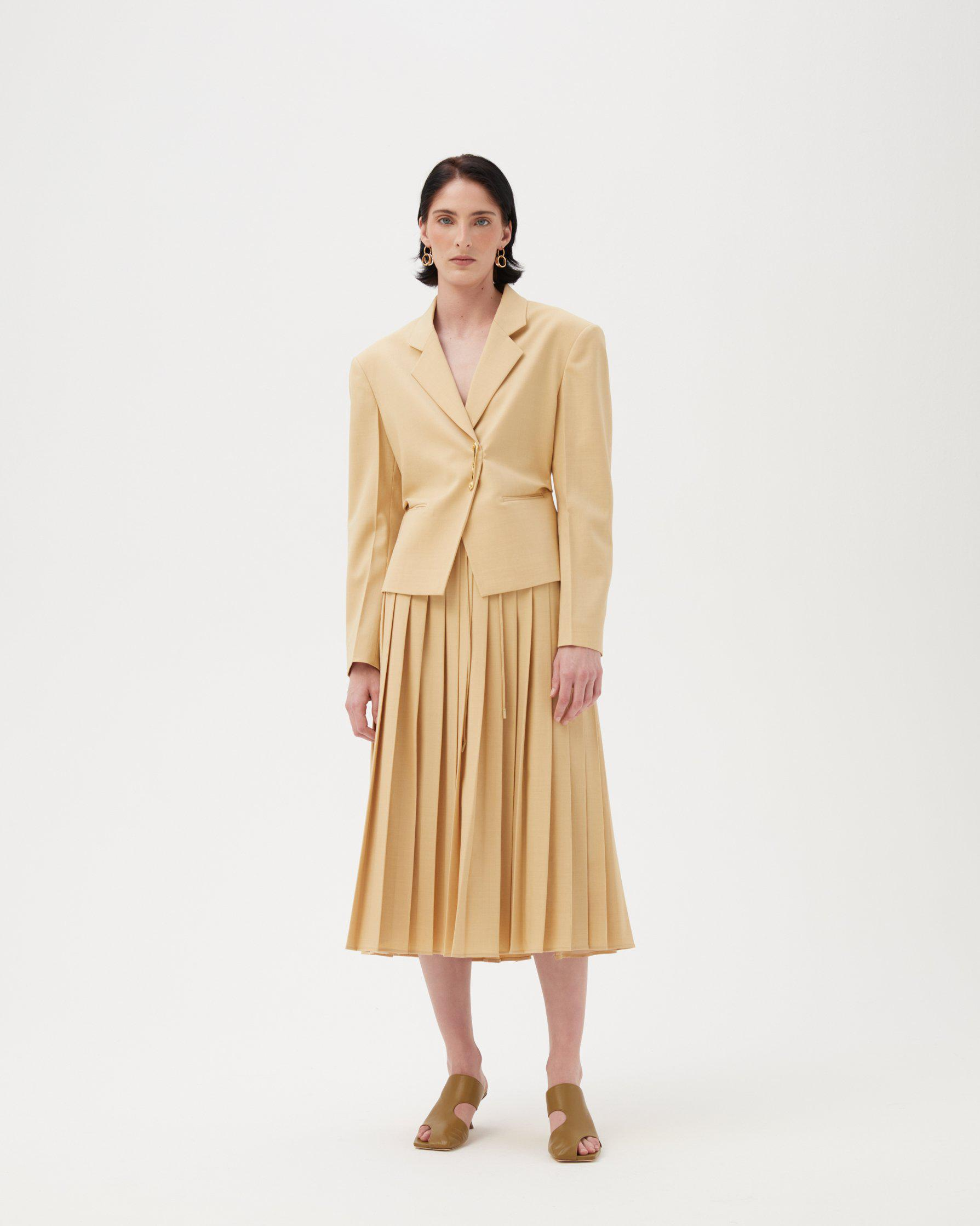 Cecilia Jacket Wool Blend Butter