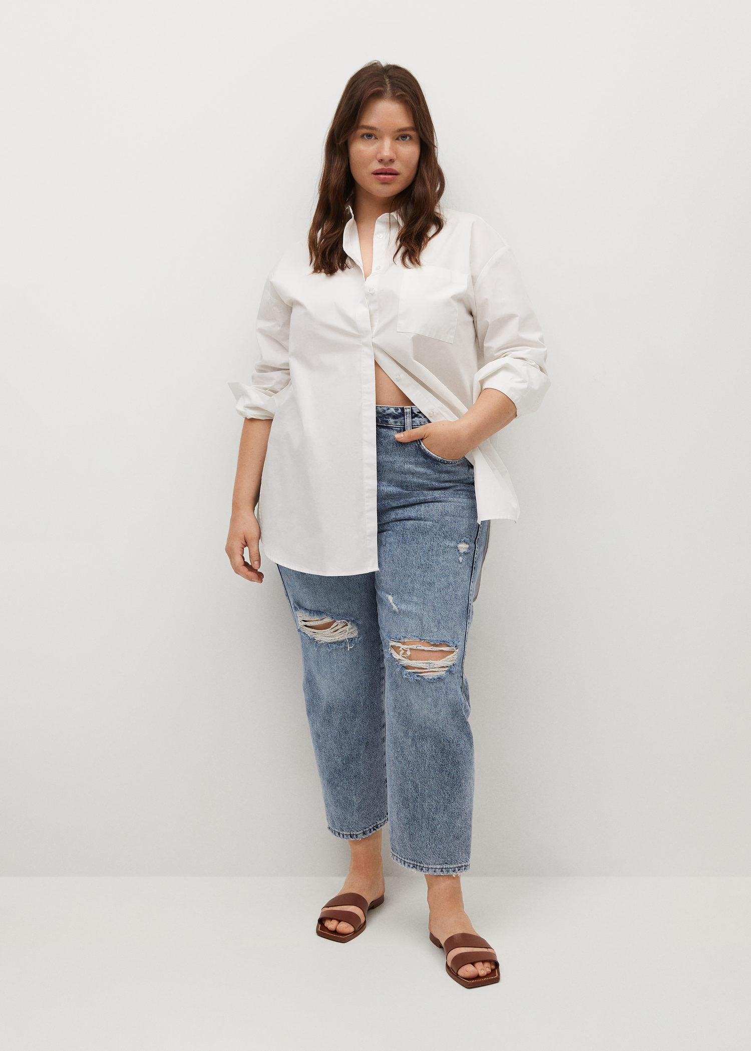 Decorative ripped jeans