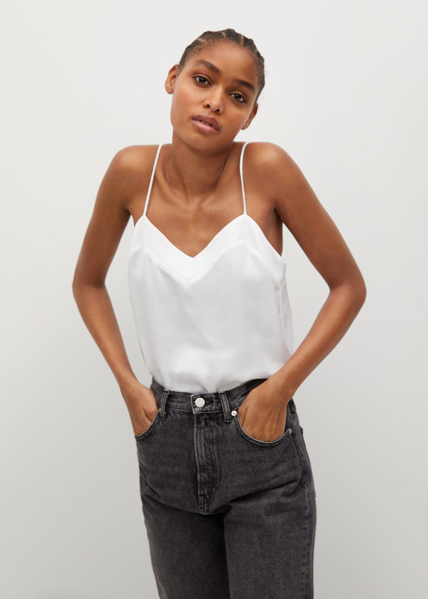 Satin lace top