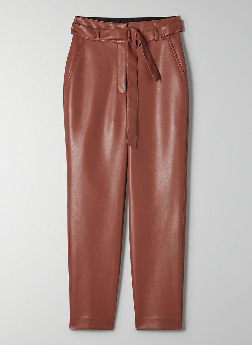 Vegan Leather Belted Pant 4