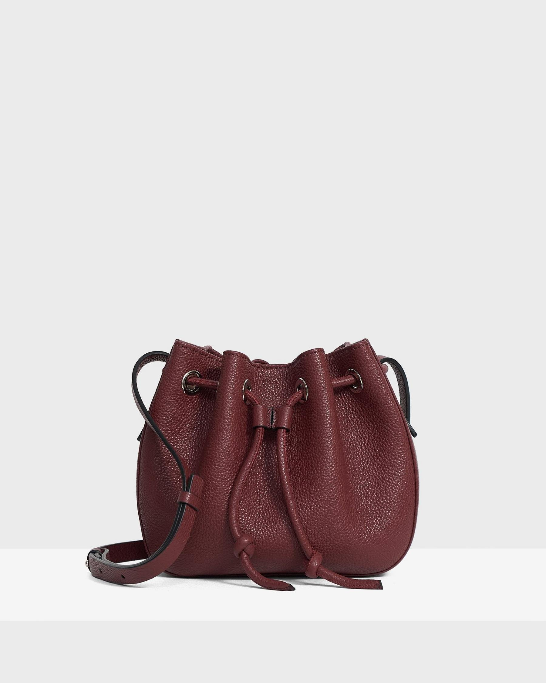 Micro Bucket Bag in Pebbled Leather 1