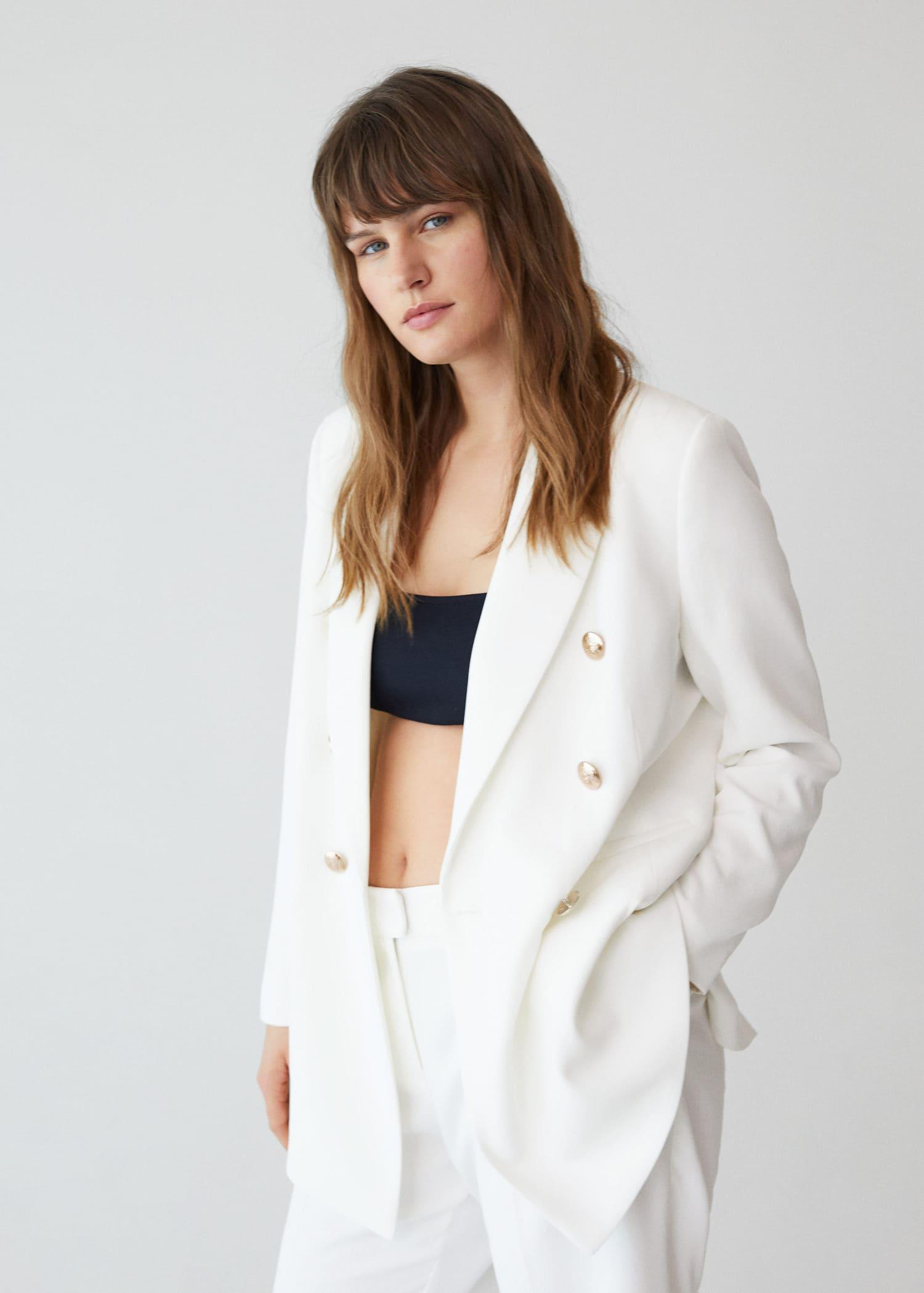 Double-breasted structured blazer 1
