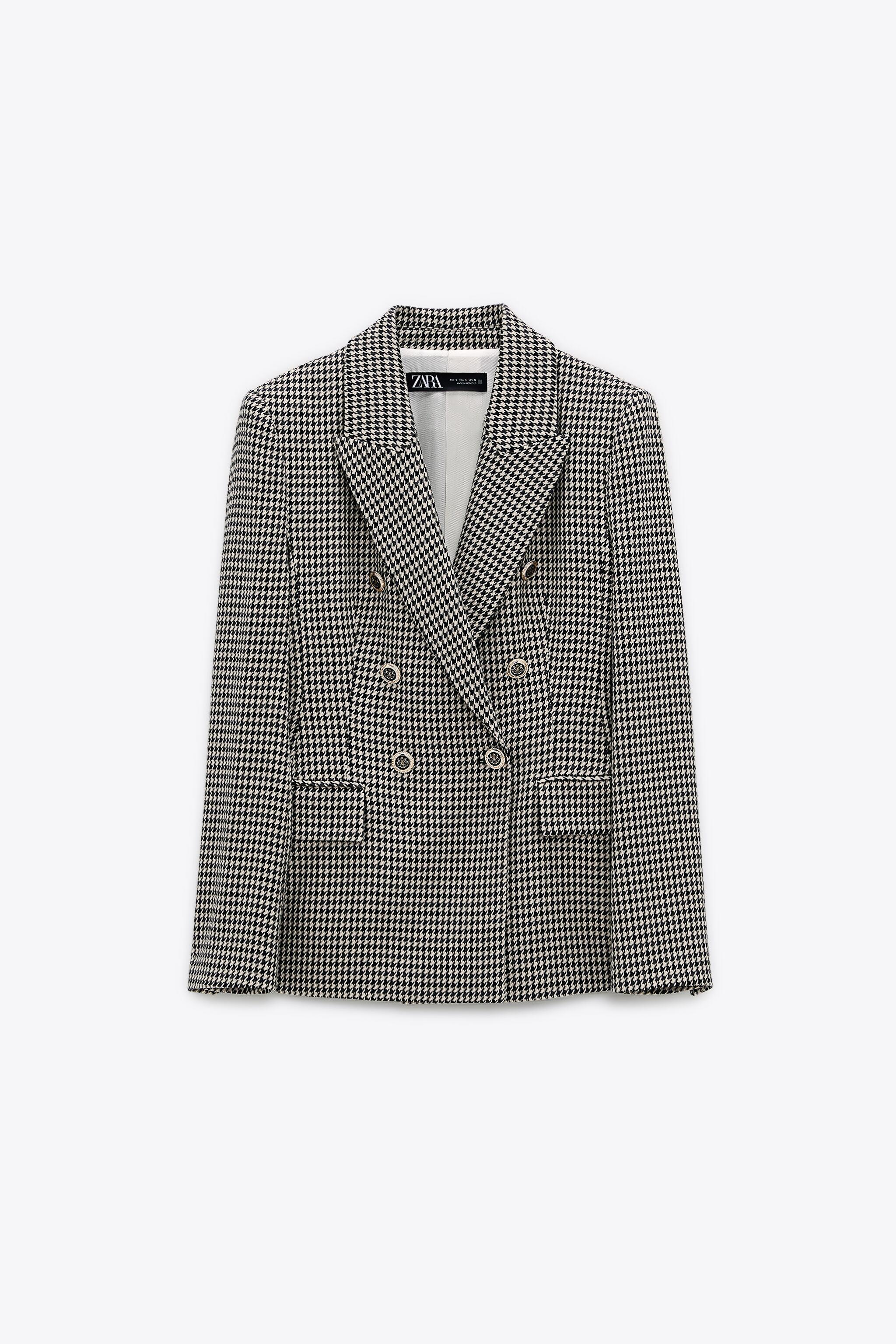 DOUBLE BREASTED HOUNDSTOOTH BLAZER 4