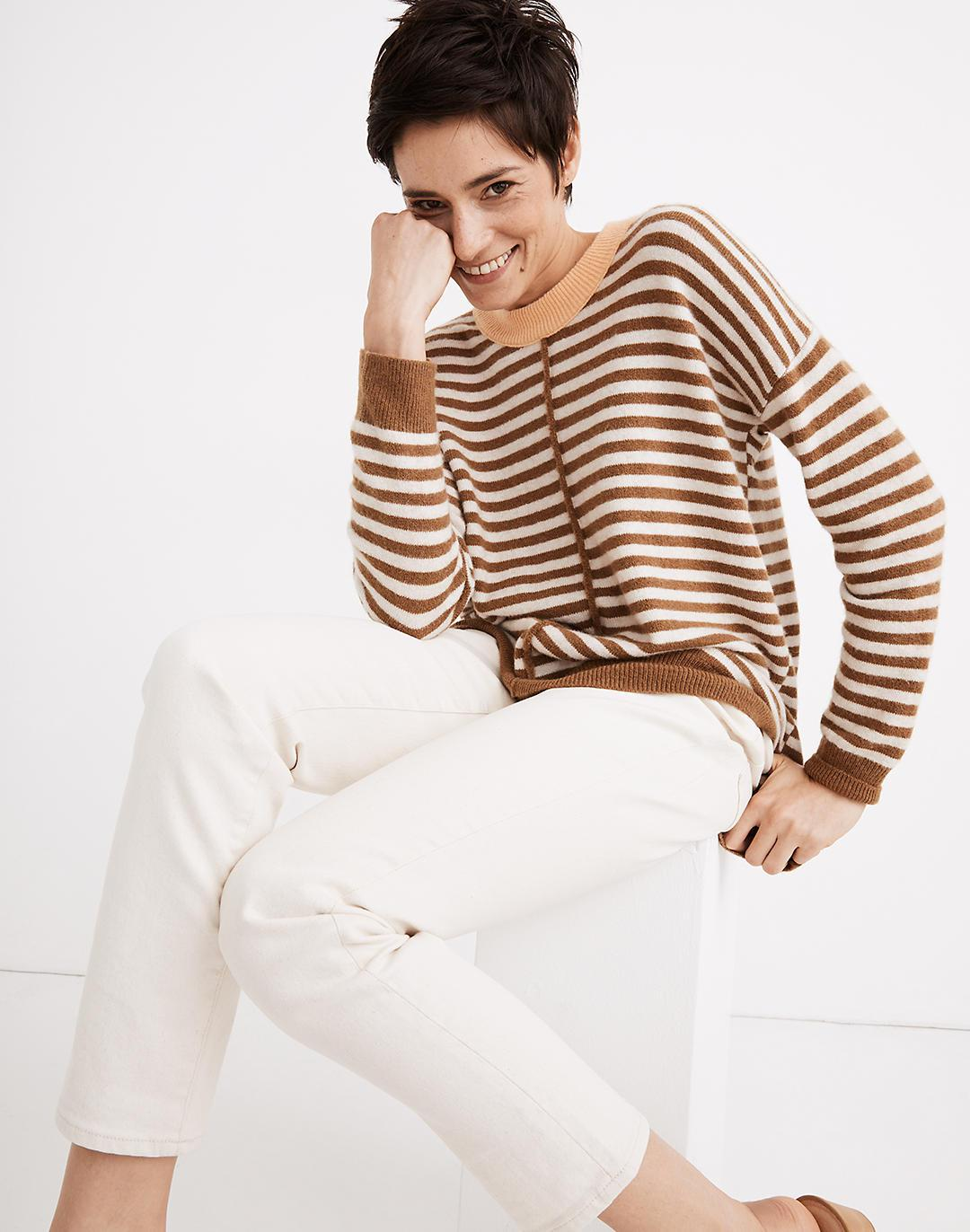 Stripe-Play Smithe Pullover Sweater in Coziest Yarn