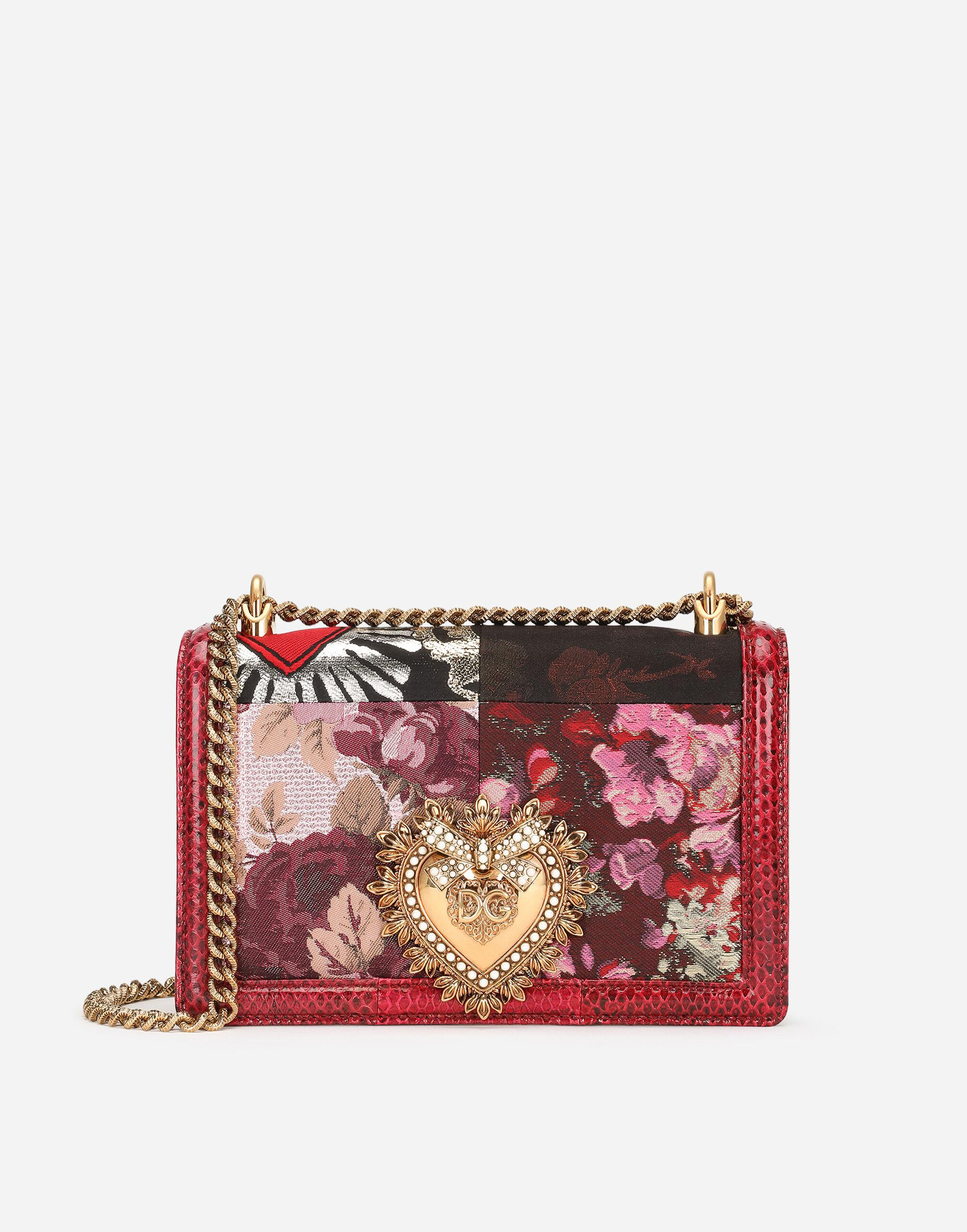 Medium Devotion bag in patchwork fabric and ayers