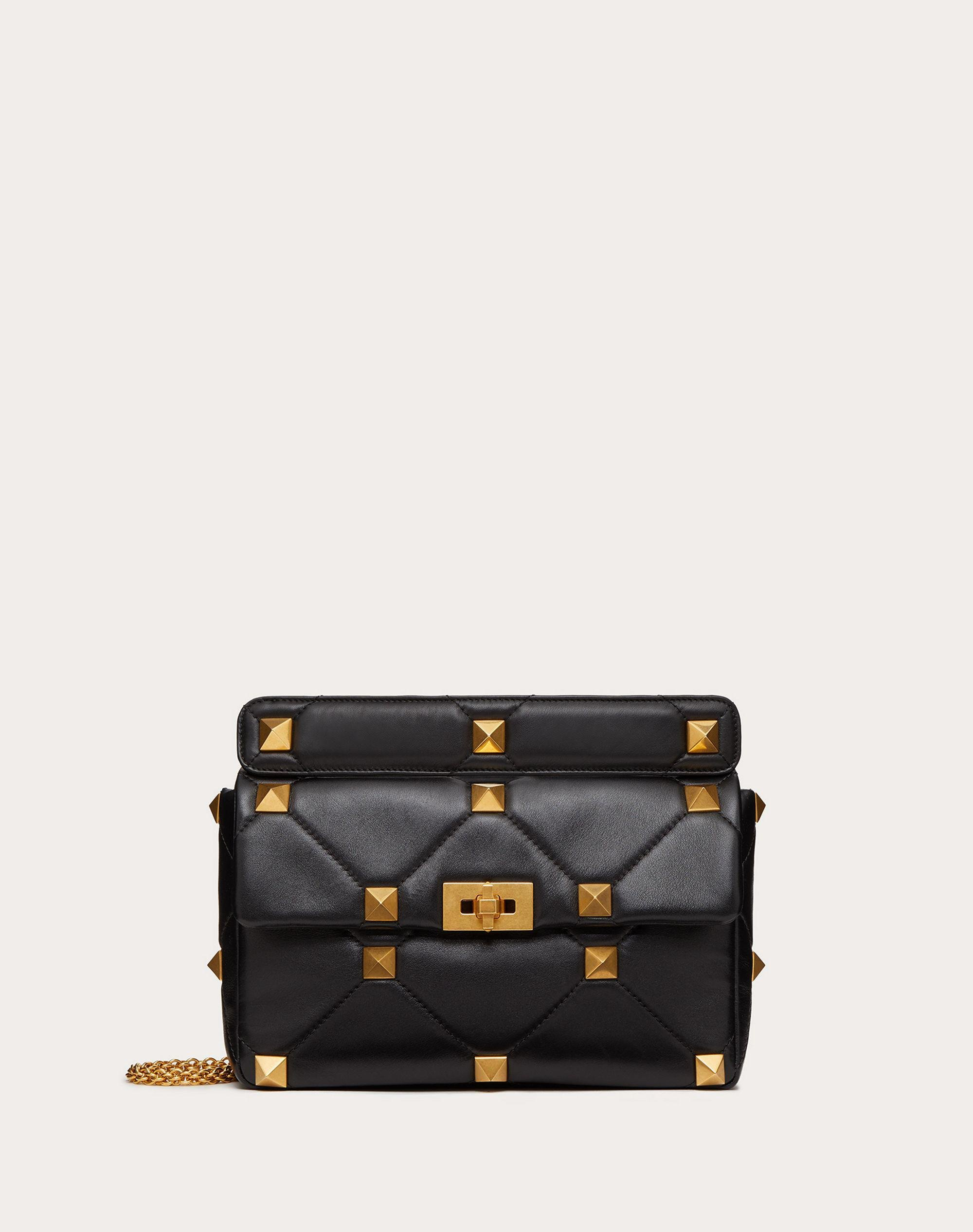 Large Roman Stud The Shoulder Bag in Nappa with Chain