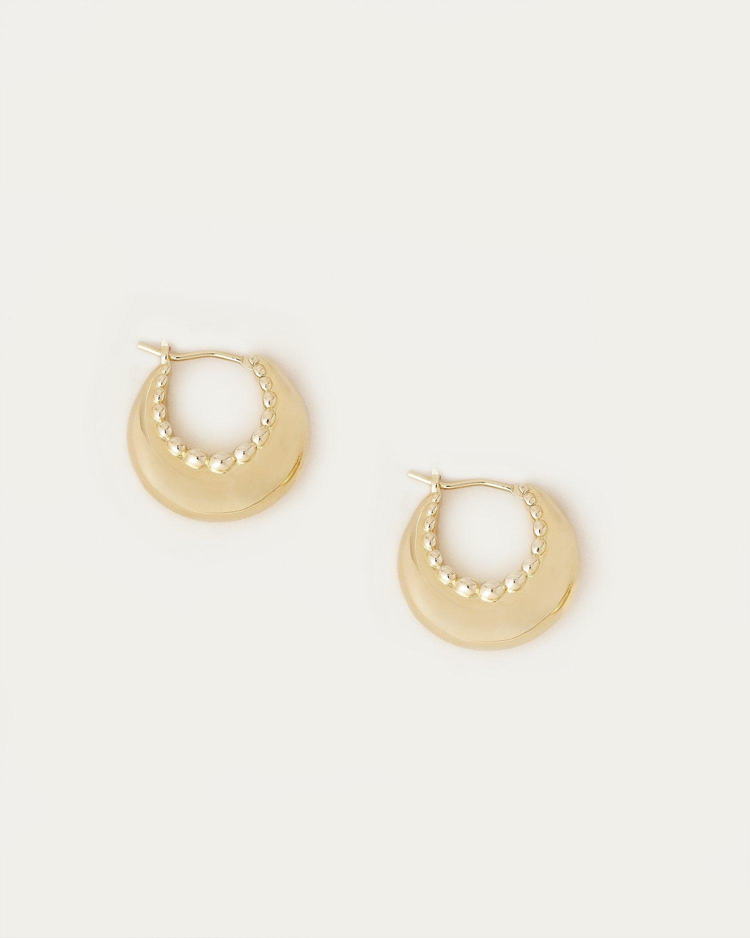 Alana Gold Scallop Dome Hoop Earring