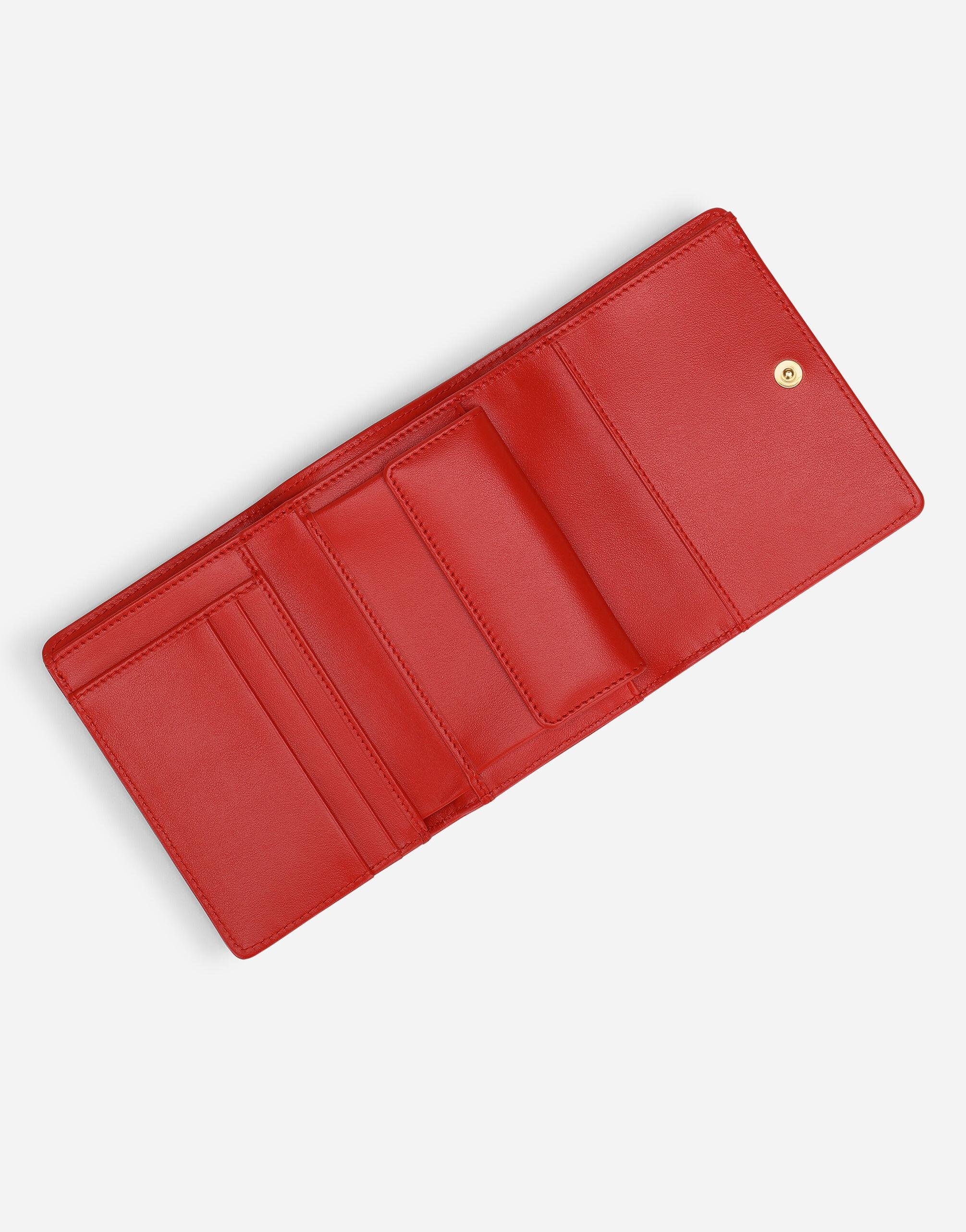 Small continental Devotion wallet in quilted nappa leather 3