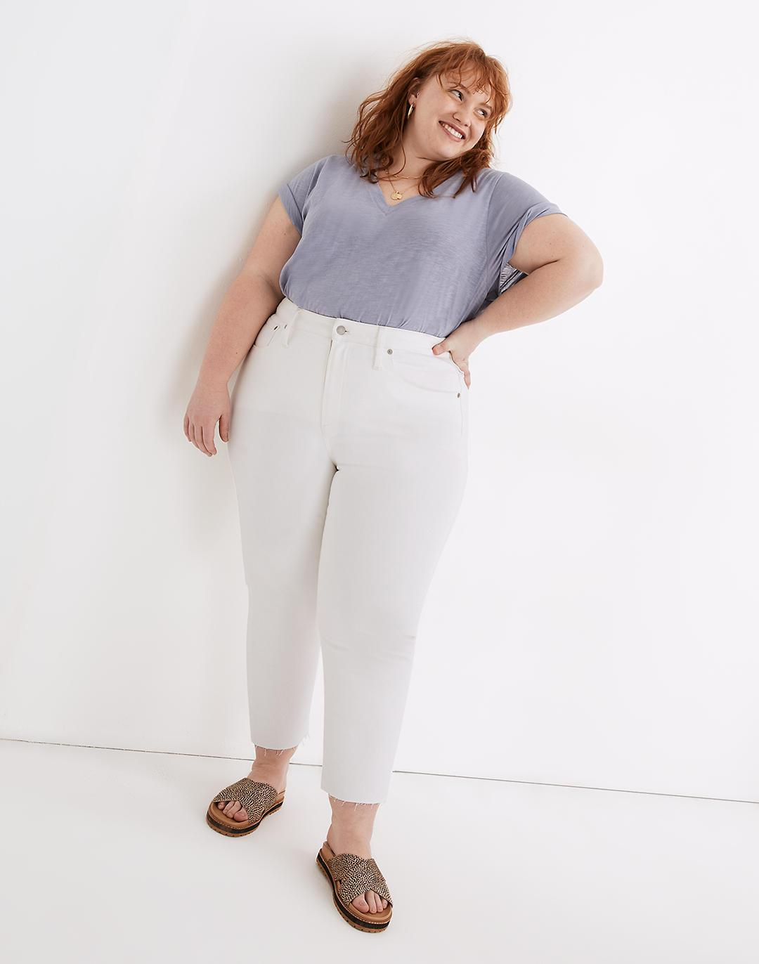 The Plus Perfect Vintage Jean in Tile White