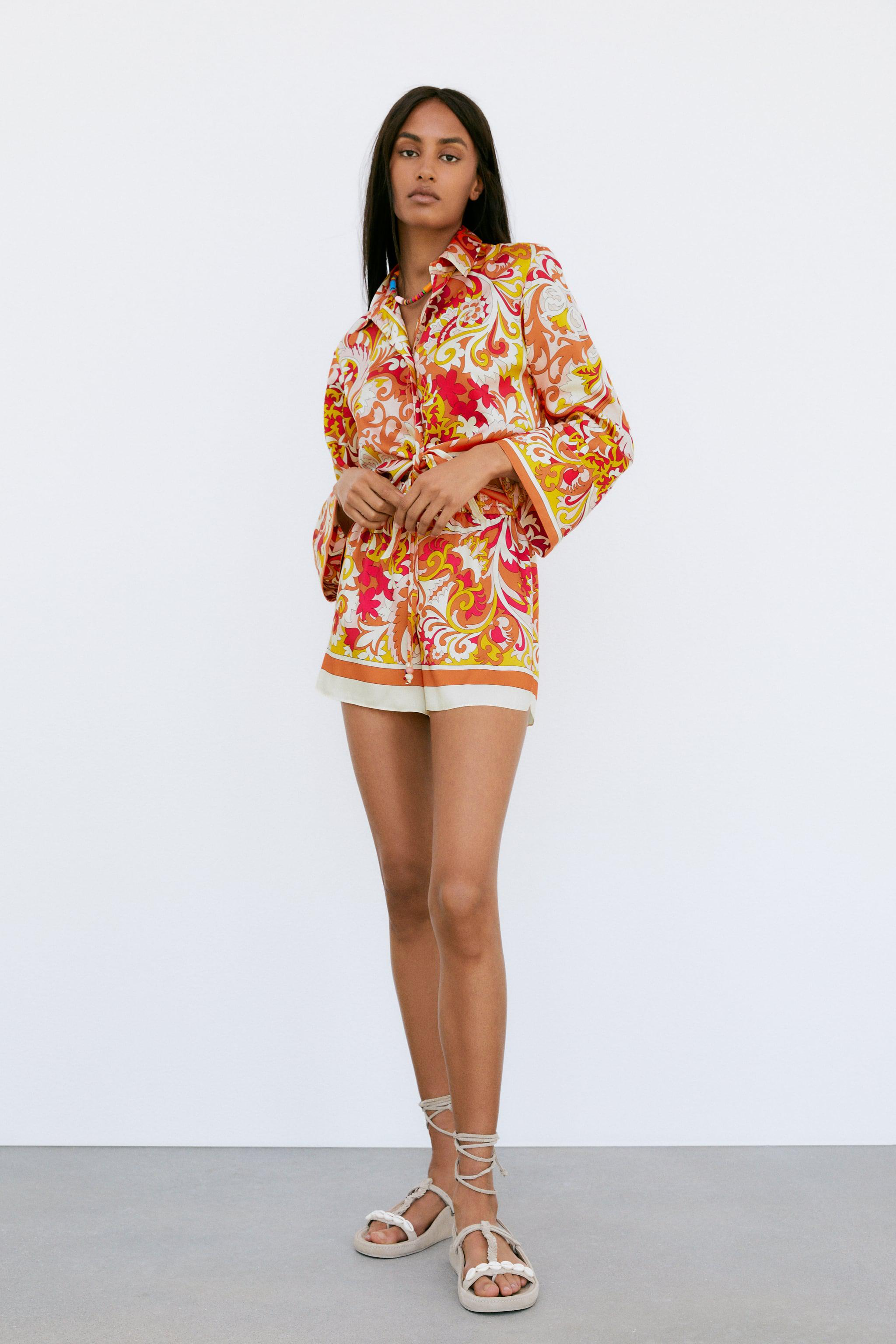 KNOTTED PRINTED SHIRT
