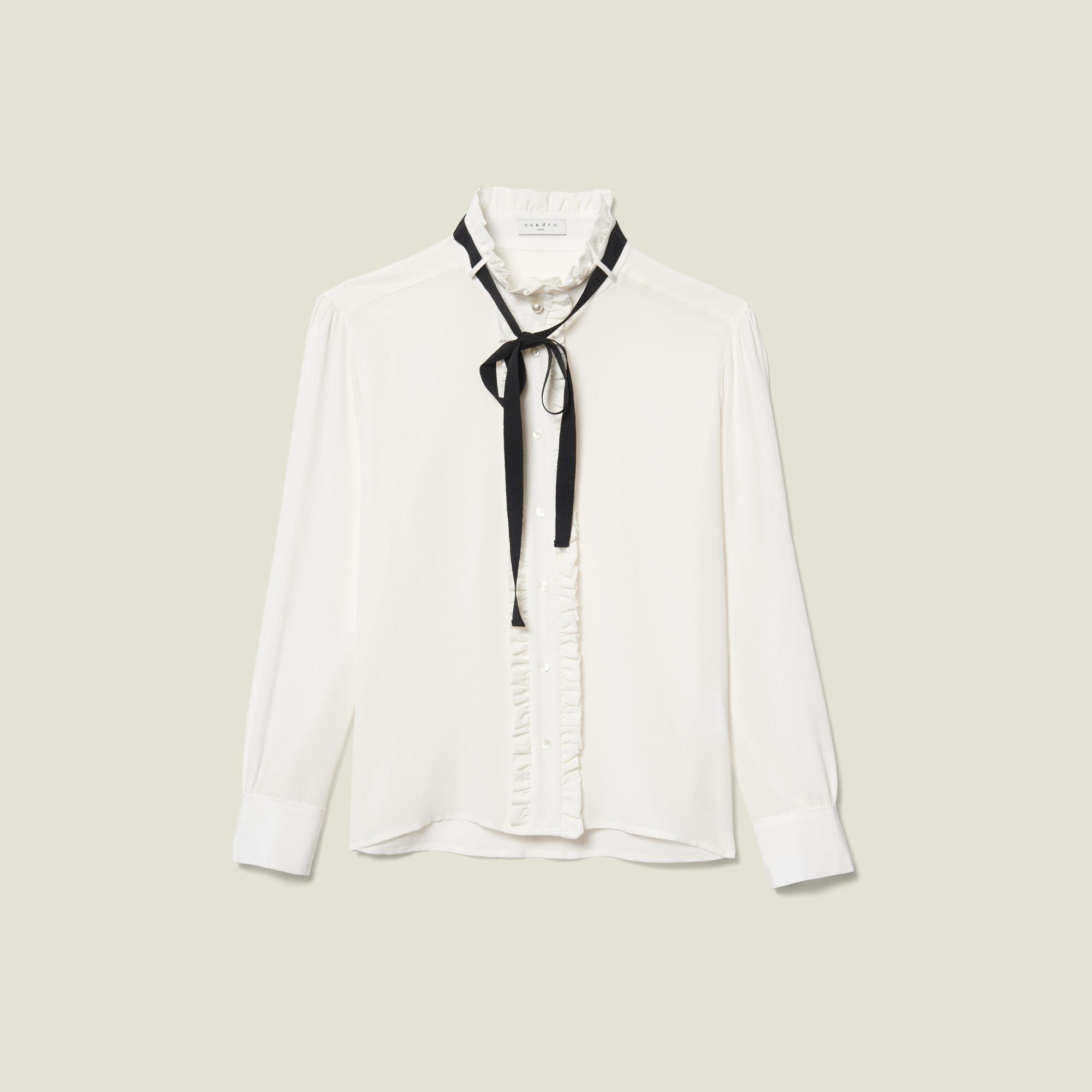 Silk blouse with ribbon