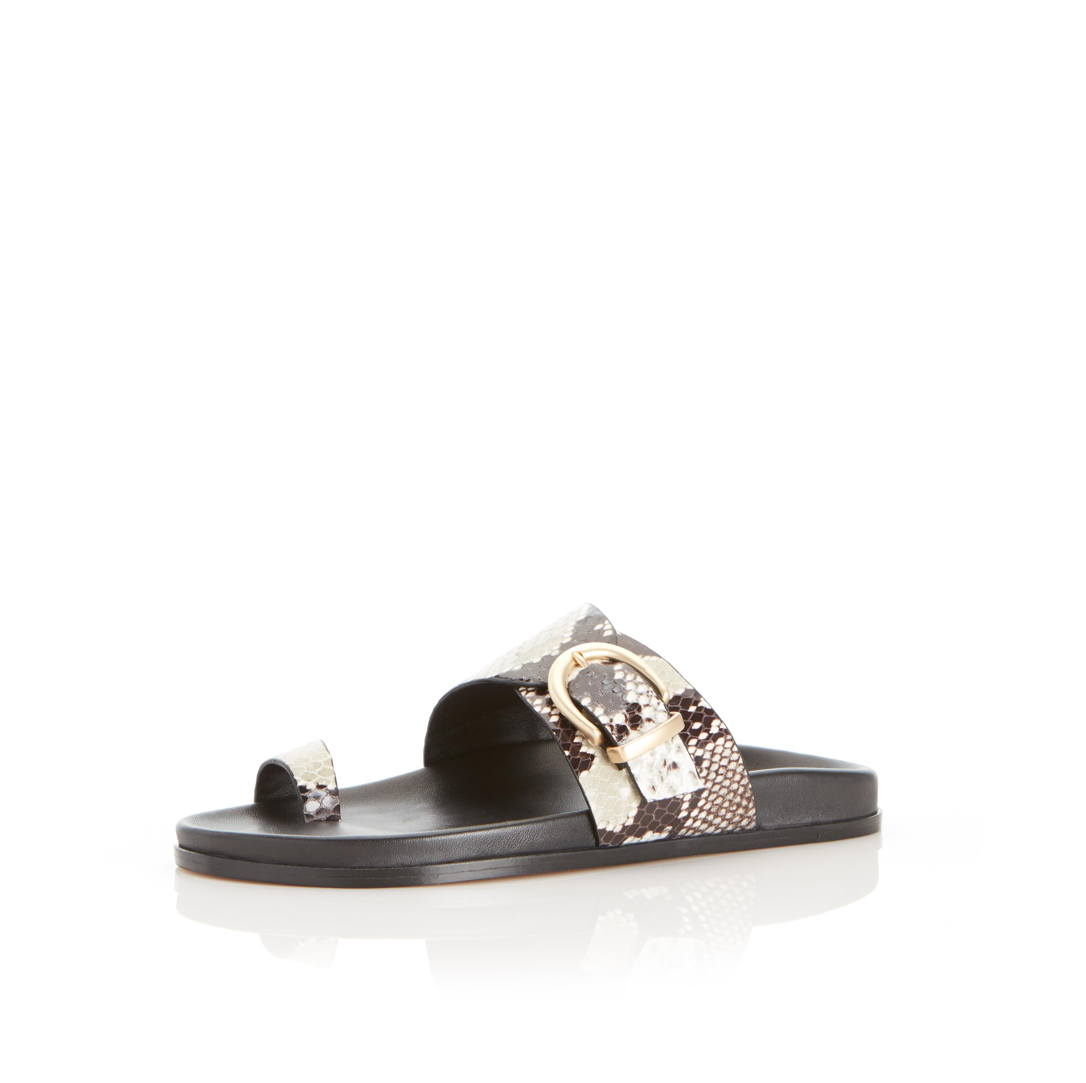 Cyrus | Leather Slide Sandal with Contoured Footbed 1
