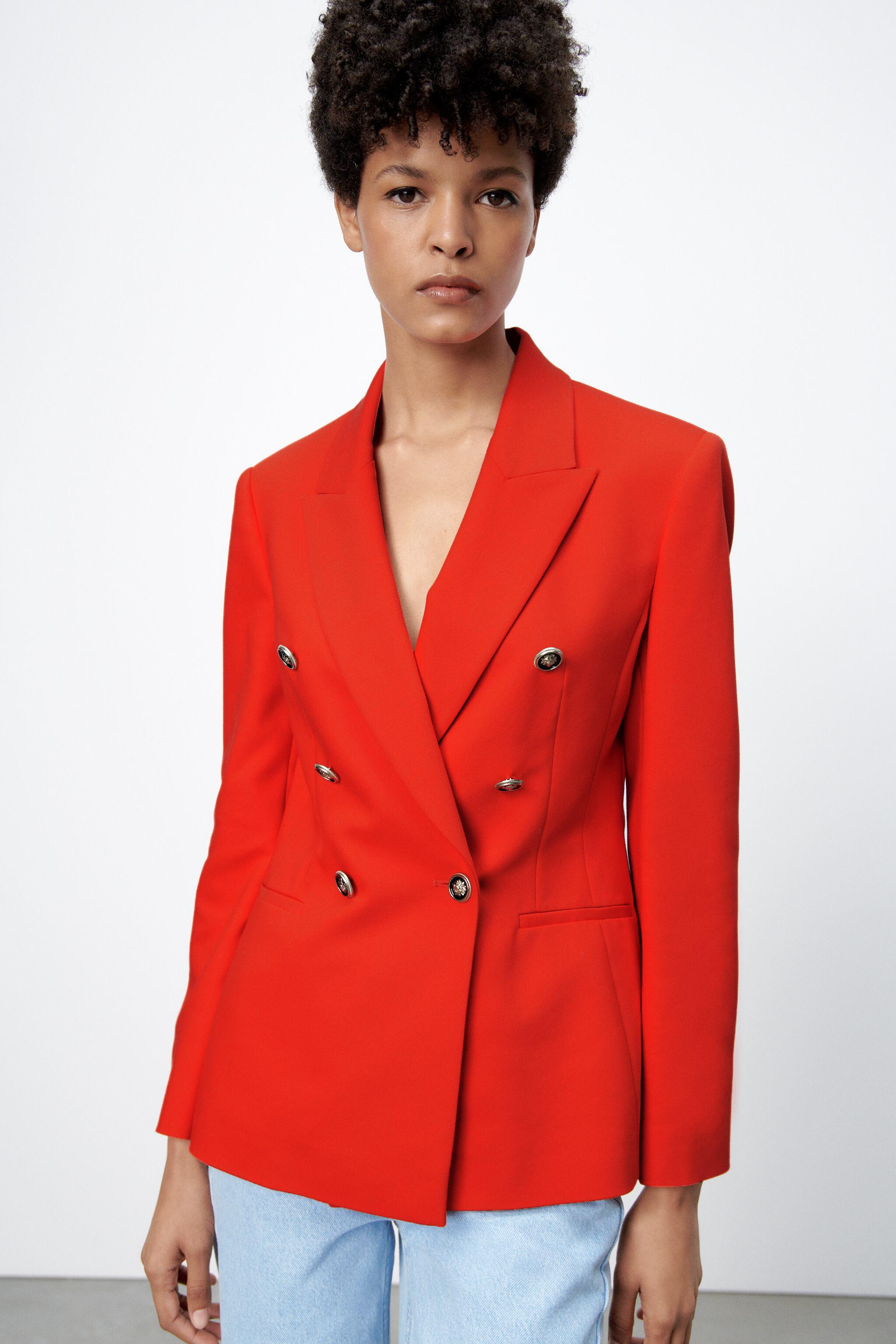 DOUBLE BREASTED BUTTONED BLAZER 1