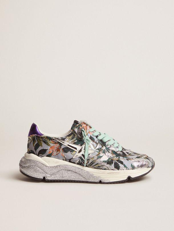Running Sole sneakers with floral jacquard upper