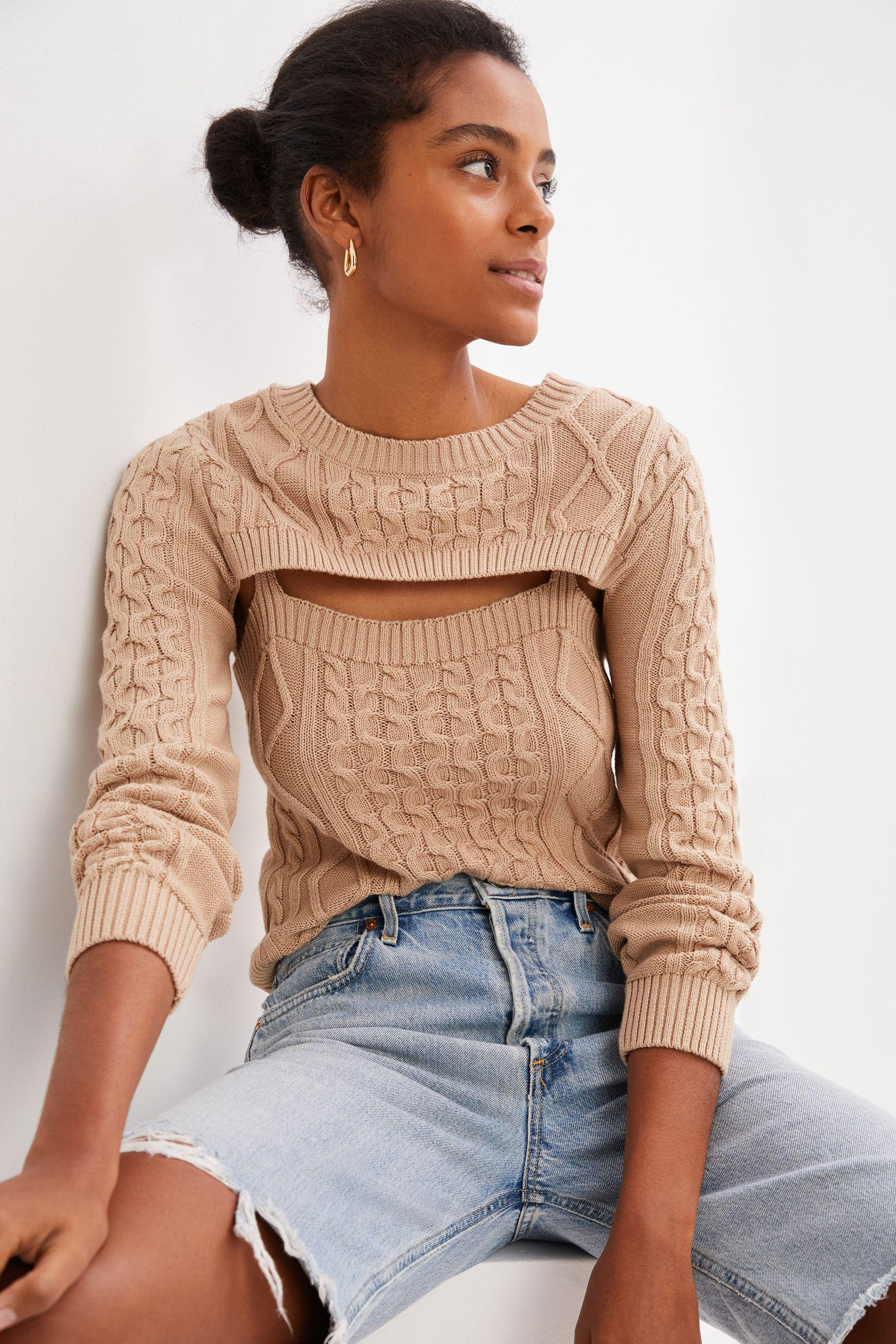Cable-Knit Sweater Tank Set