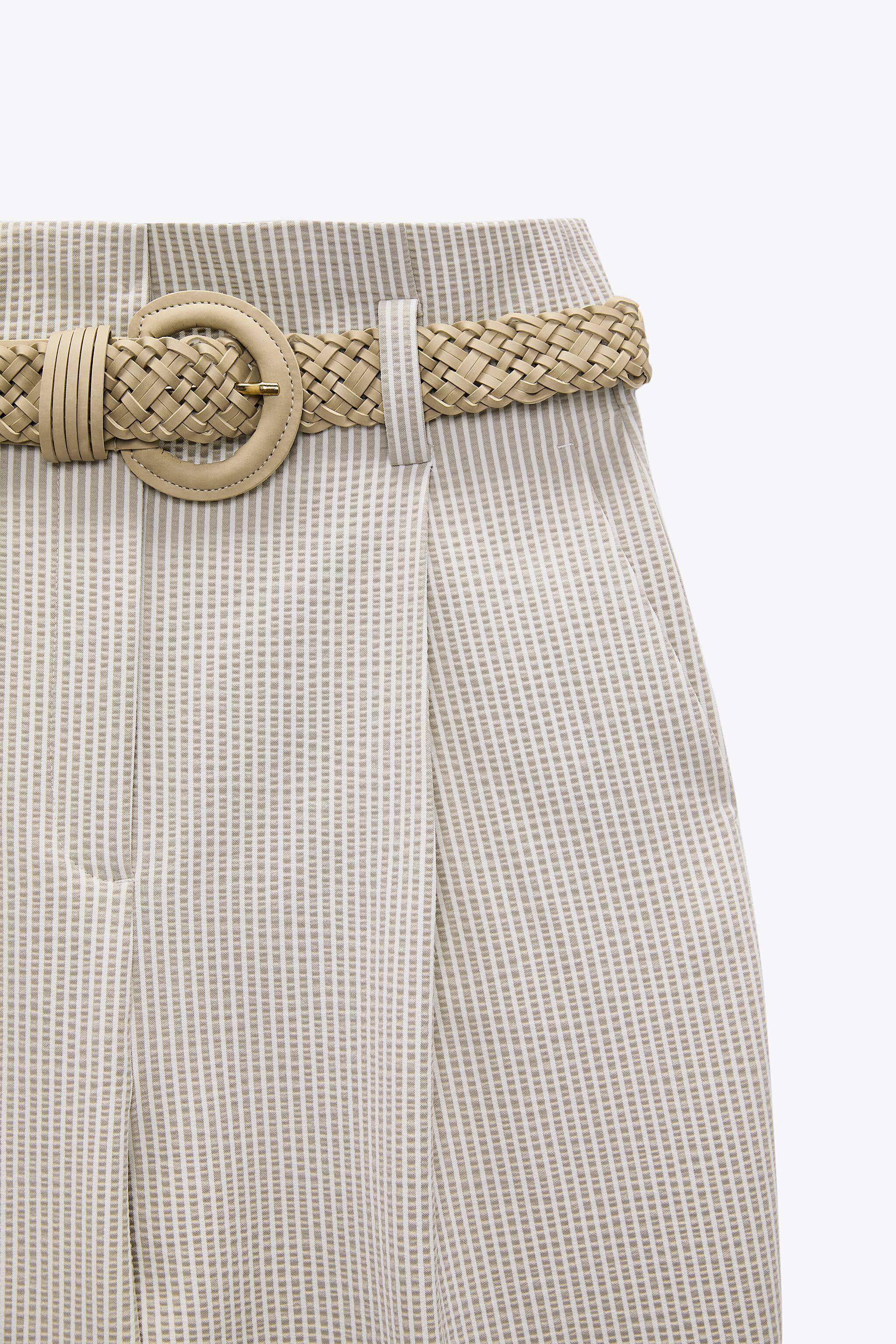 BELTED STRIPED PANTS 4