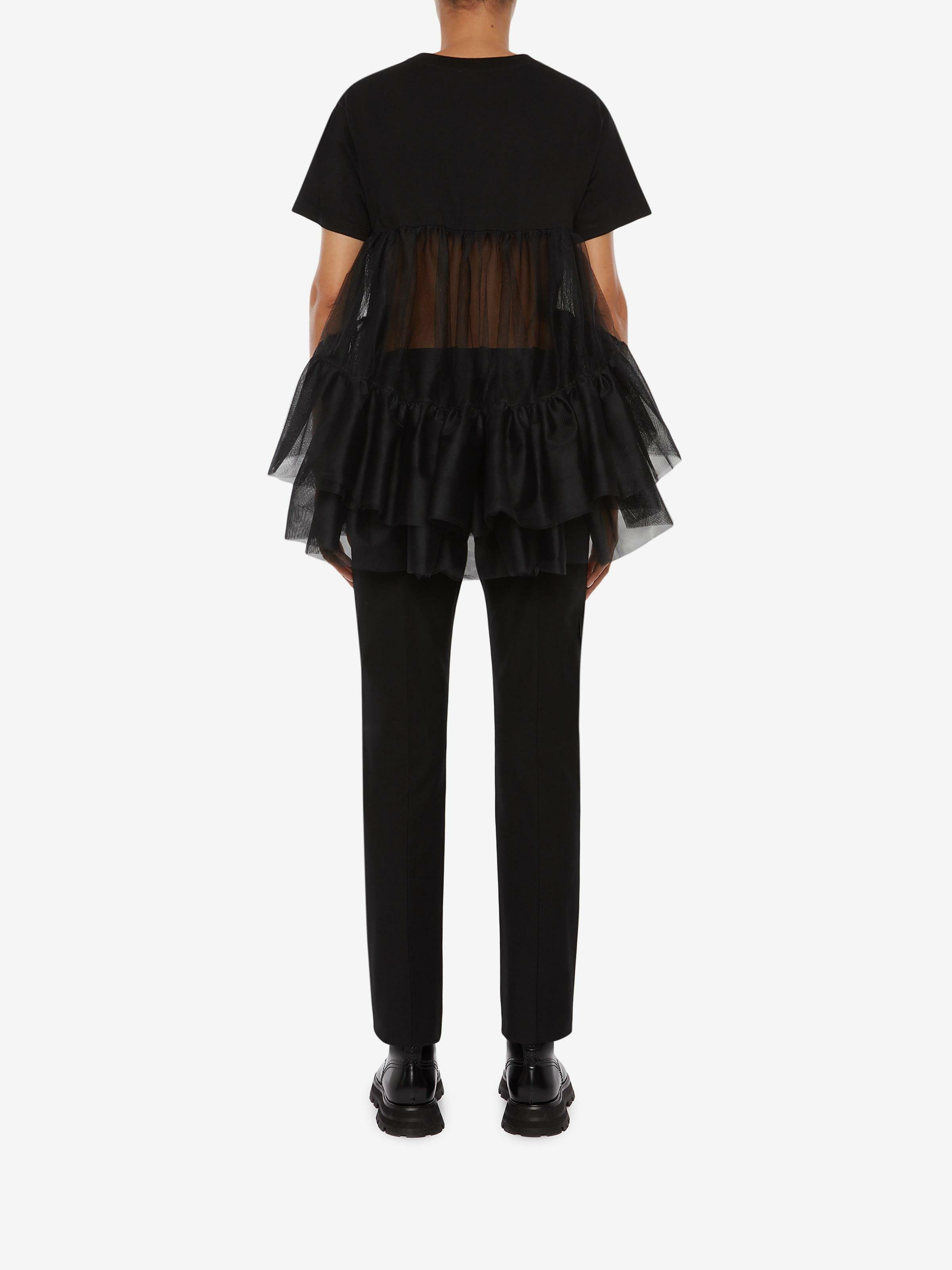 Cotton Jersey Tulle T-Shirt 2
