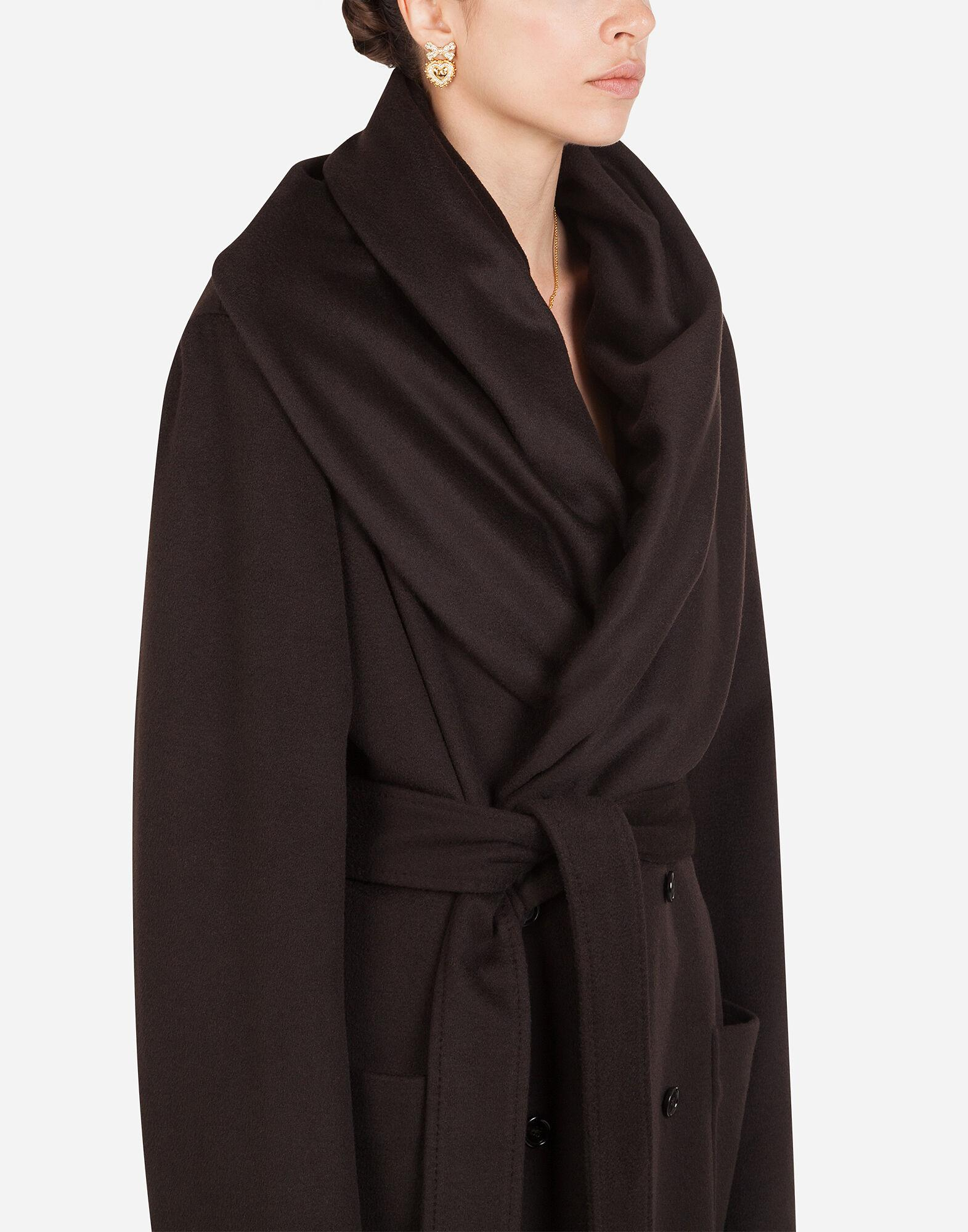 Belted cashmere robe coat 2