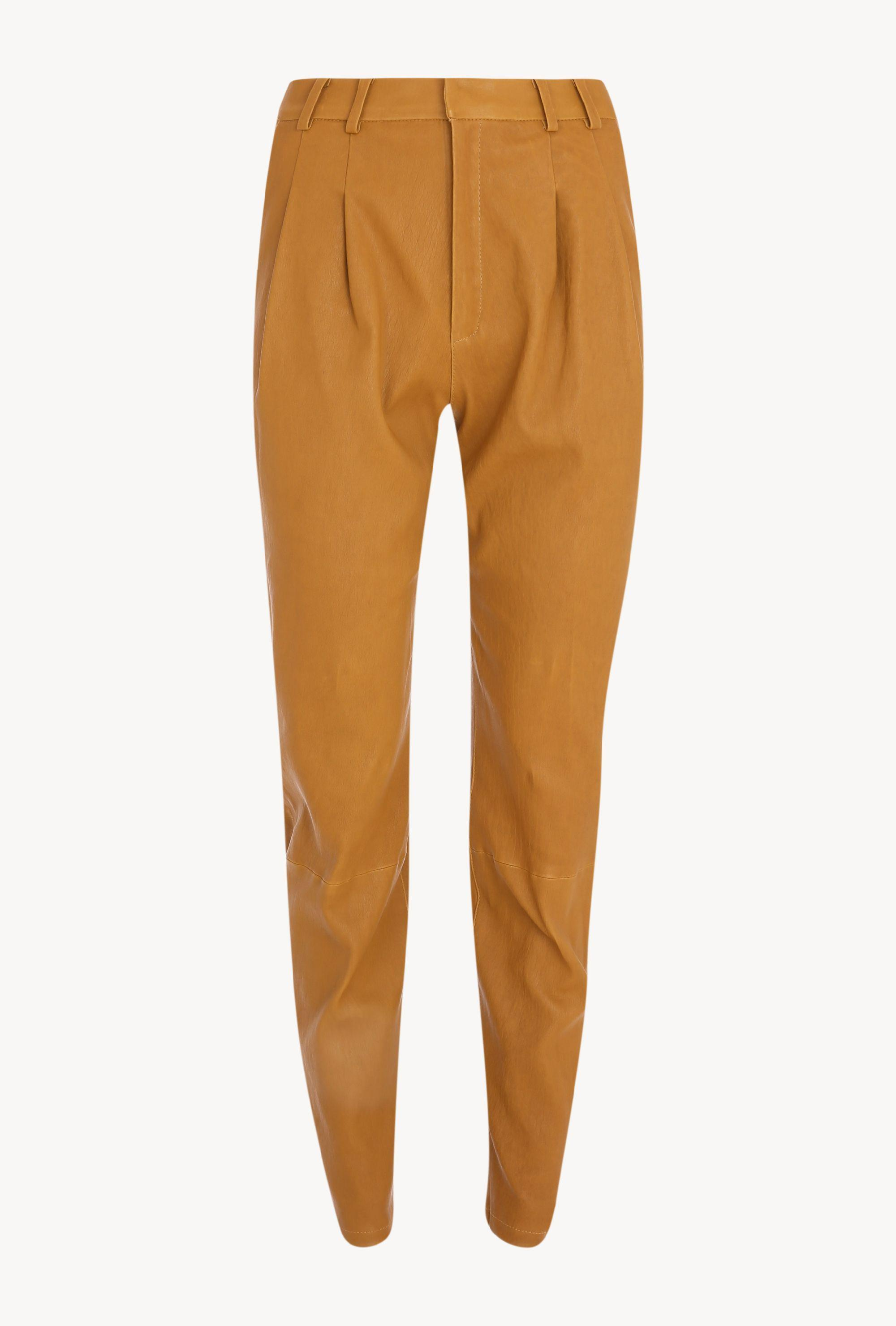 Moss Gold Leather Tailored Trouser 3
