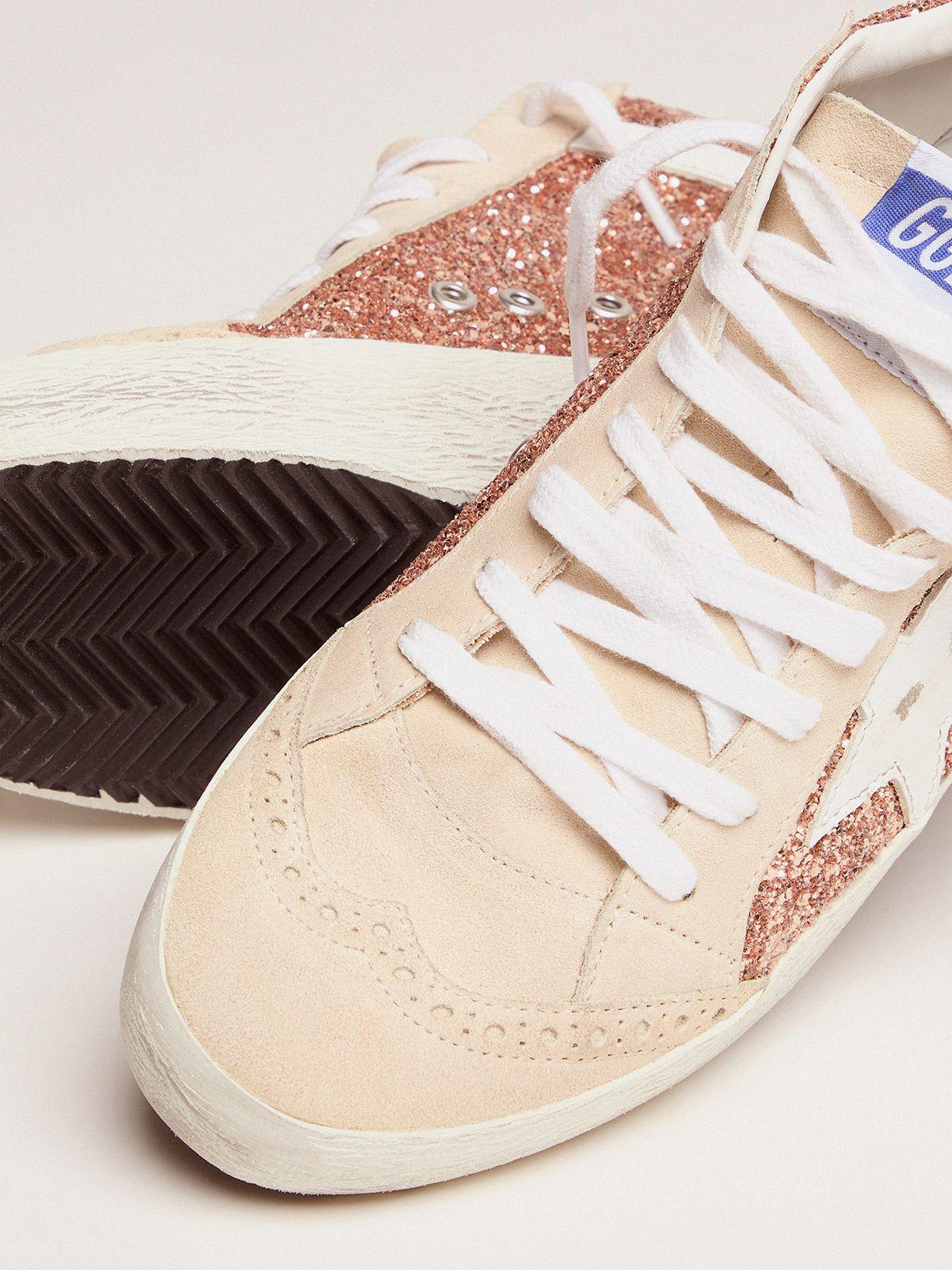 Mid Star sneakers with pink-gold glitter 2