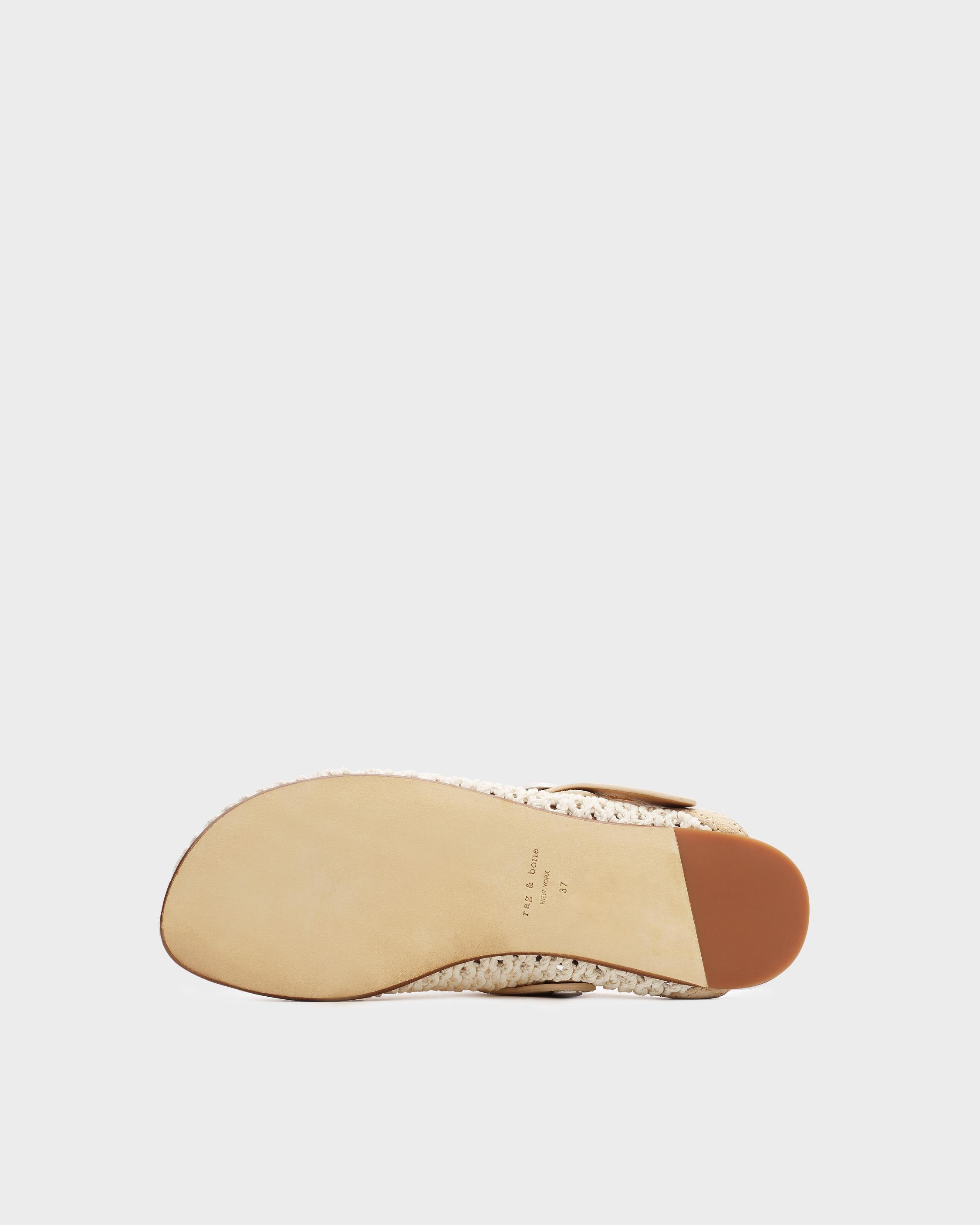 Ansley slide - leather and recycled materials 3
