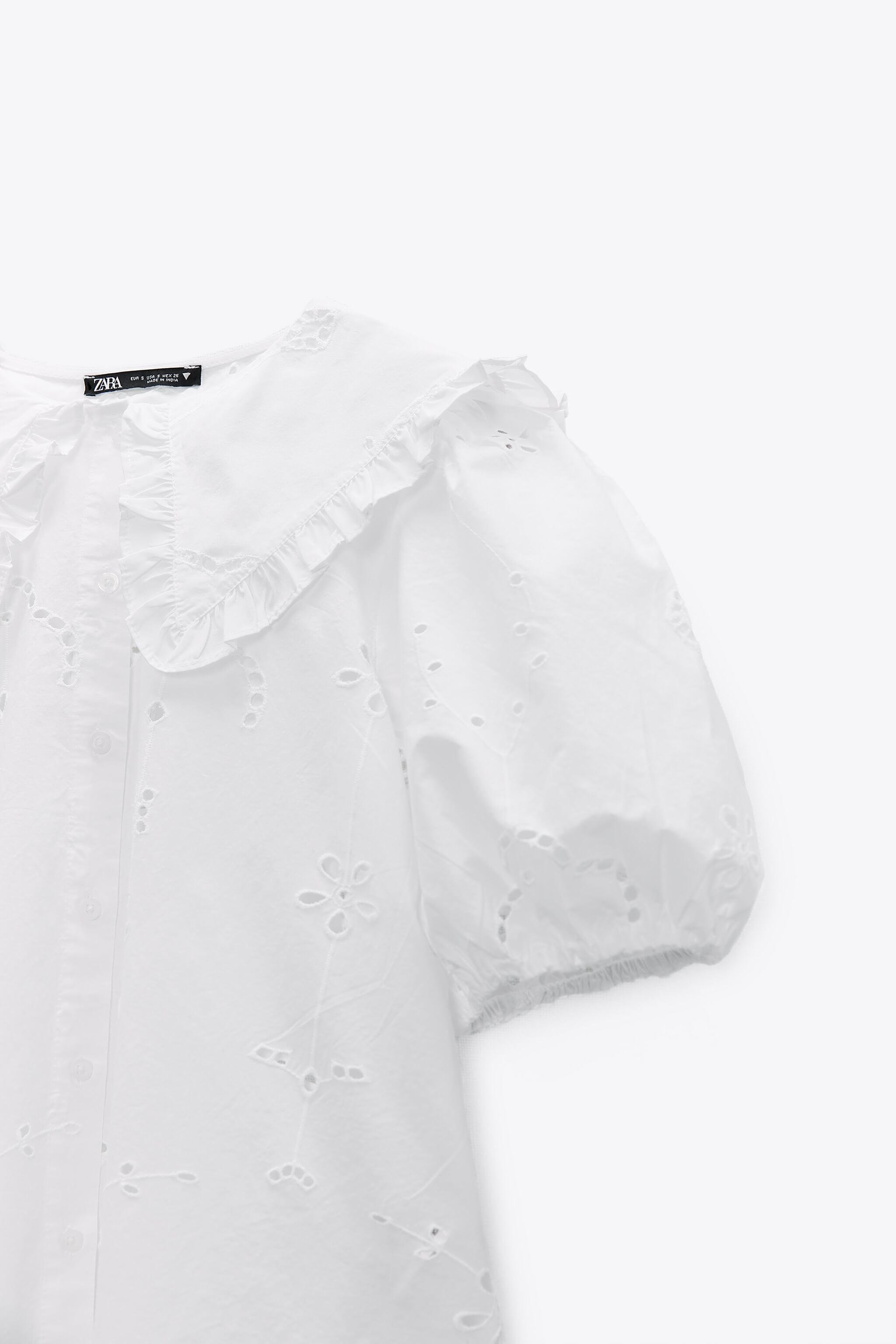 POPLIN TOP WITH EYELET EMBROIDERY 7