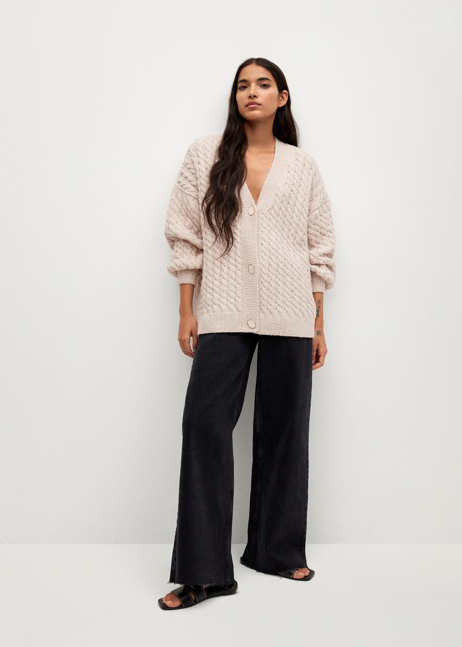 Knitted braided cardigan 1
