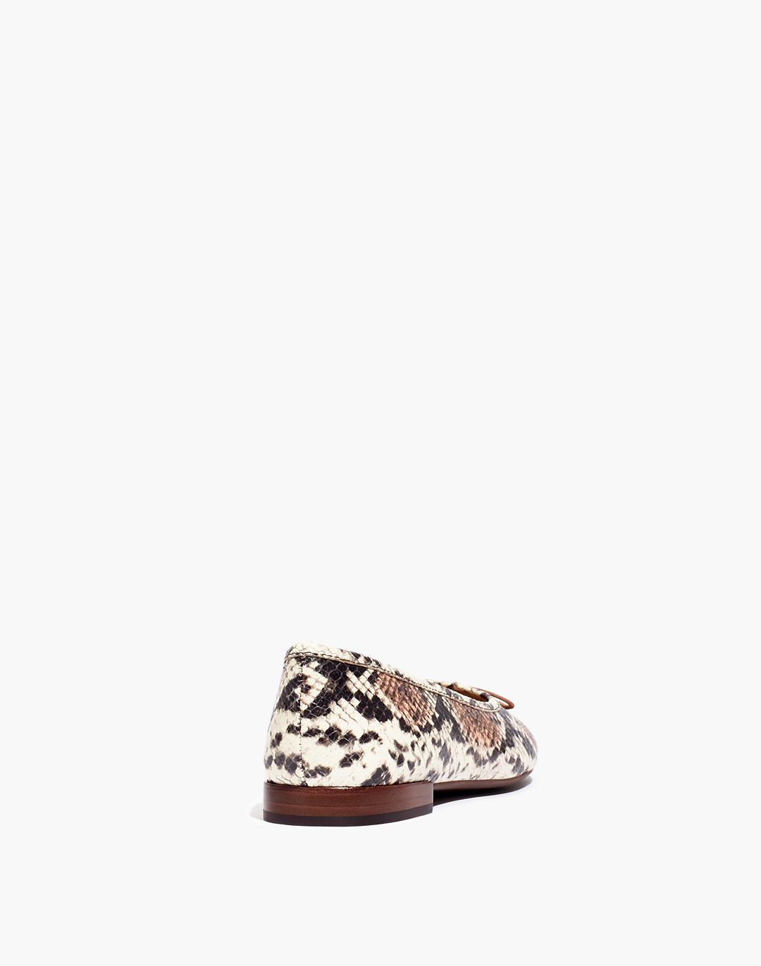 The Adelle Ballet Flat in Snake Embossed Leather 2