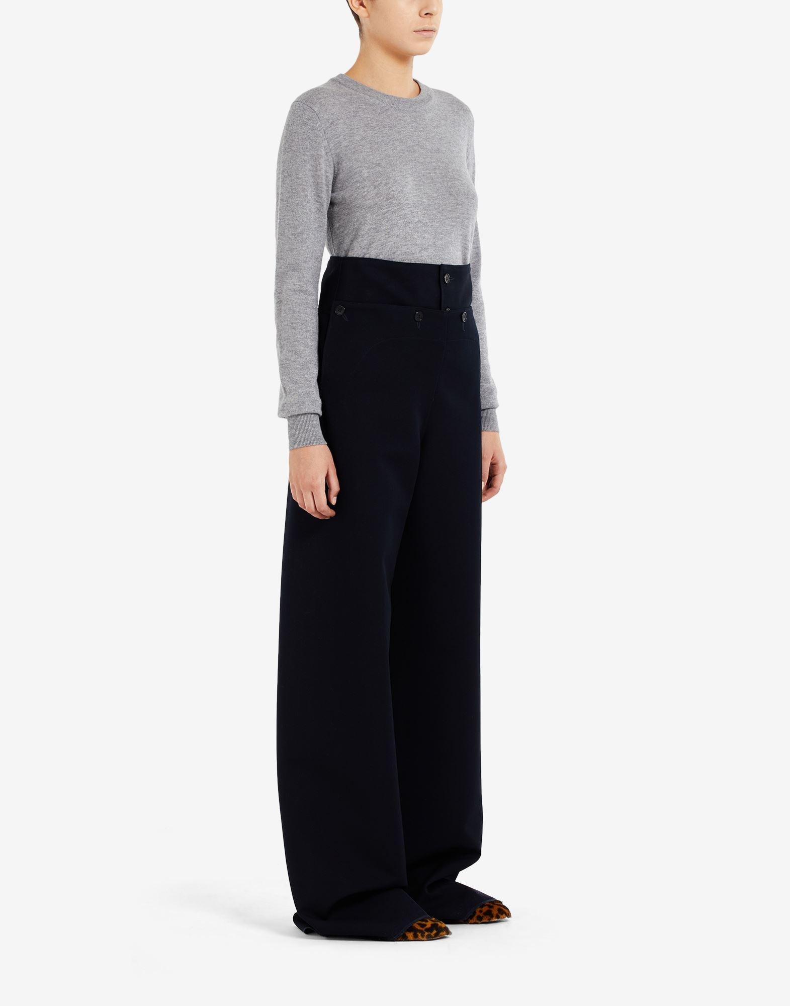 High-waisted pleated trousers 1